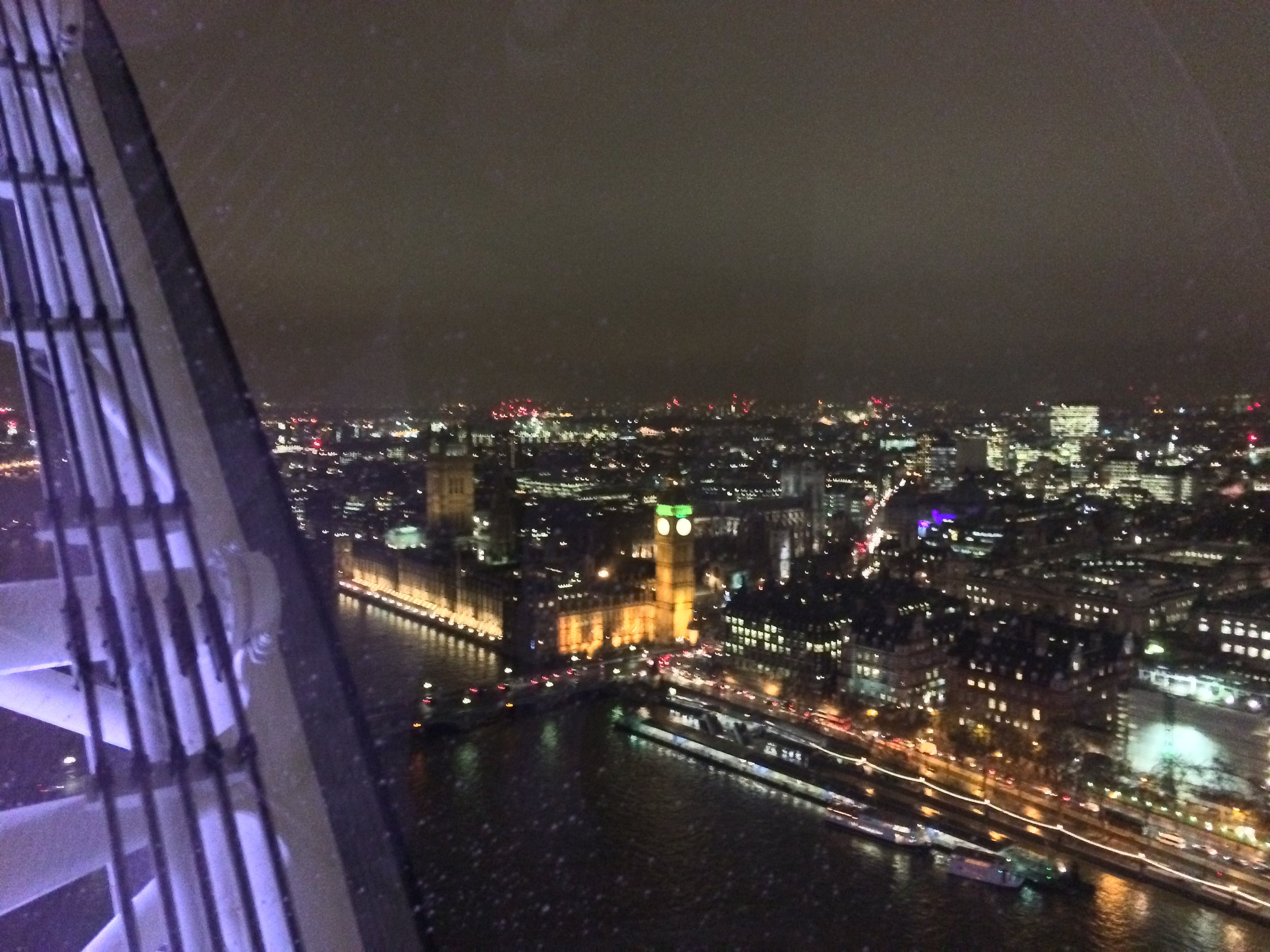 """While there is not a """"bad"""" time to ride the Eye, a nighttime spin allows for different views and perspectives of the city."""
