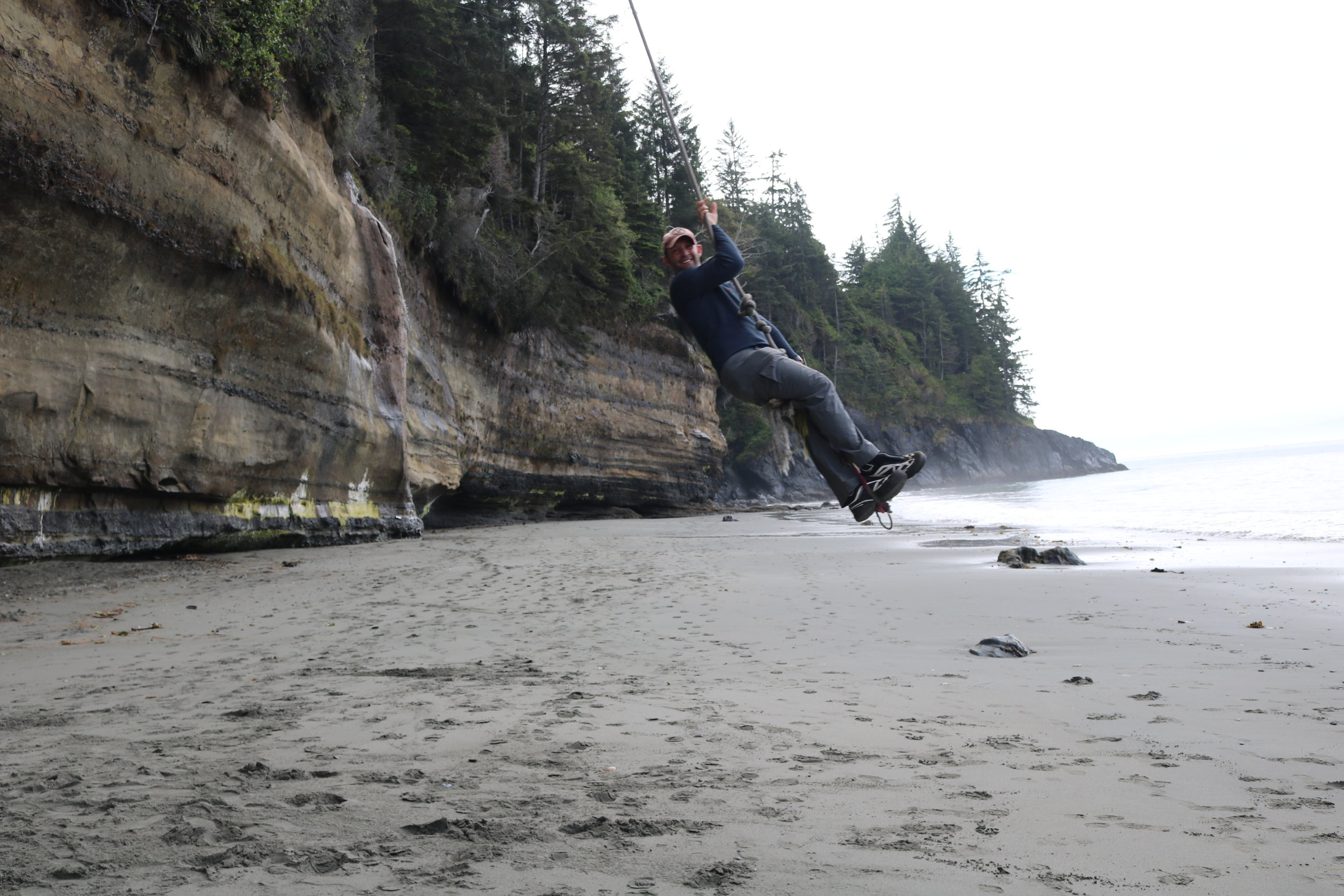 While not maintained by the park, the rope swing at Mystic Beach is a unique and fun experience.