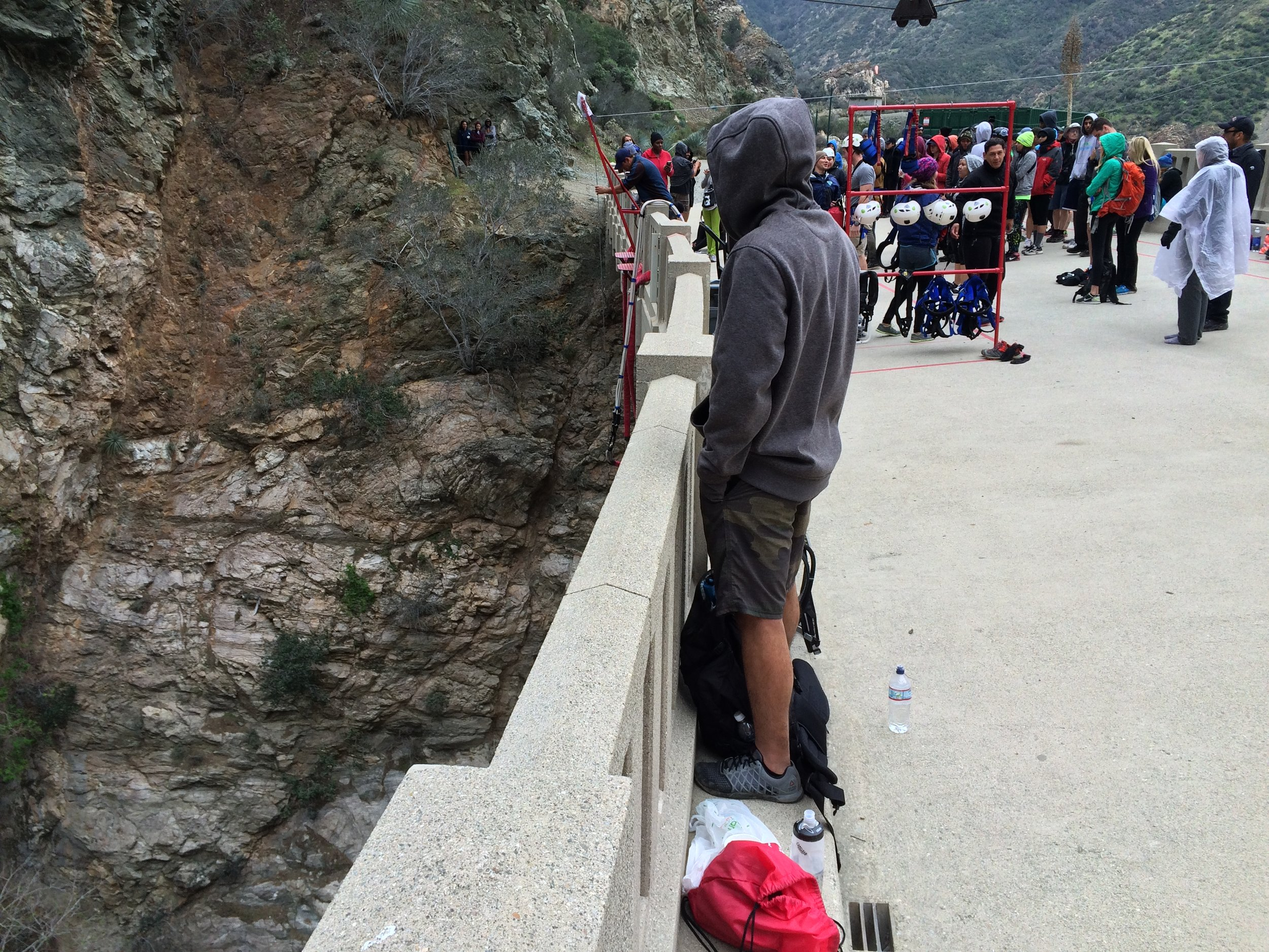 The Bridge to Nowhere is a spectacle as a historic structure, and as a spot to watch people risk life and limb.