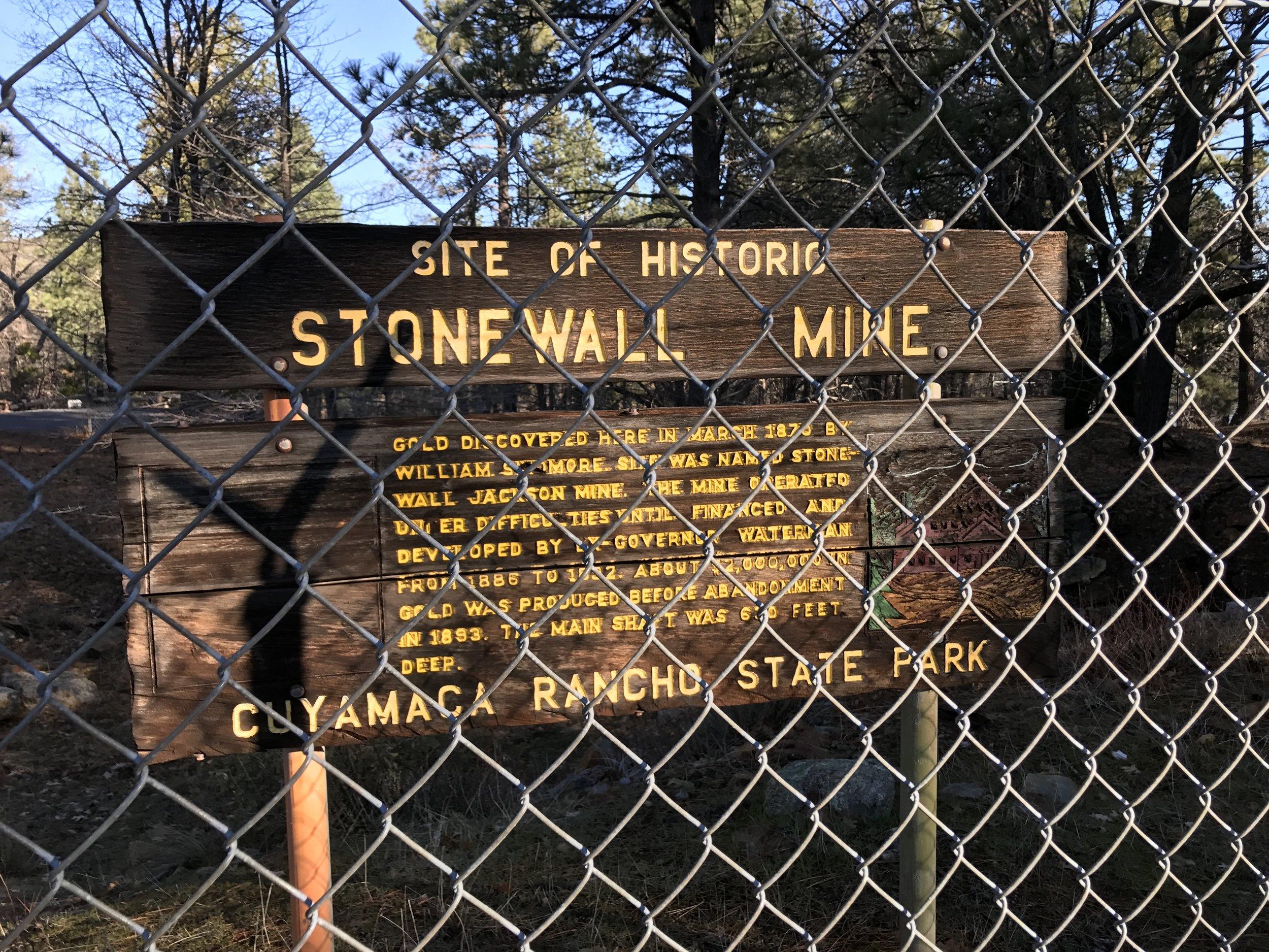Stonewall Mine — The Last Adventurer
