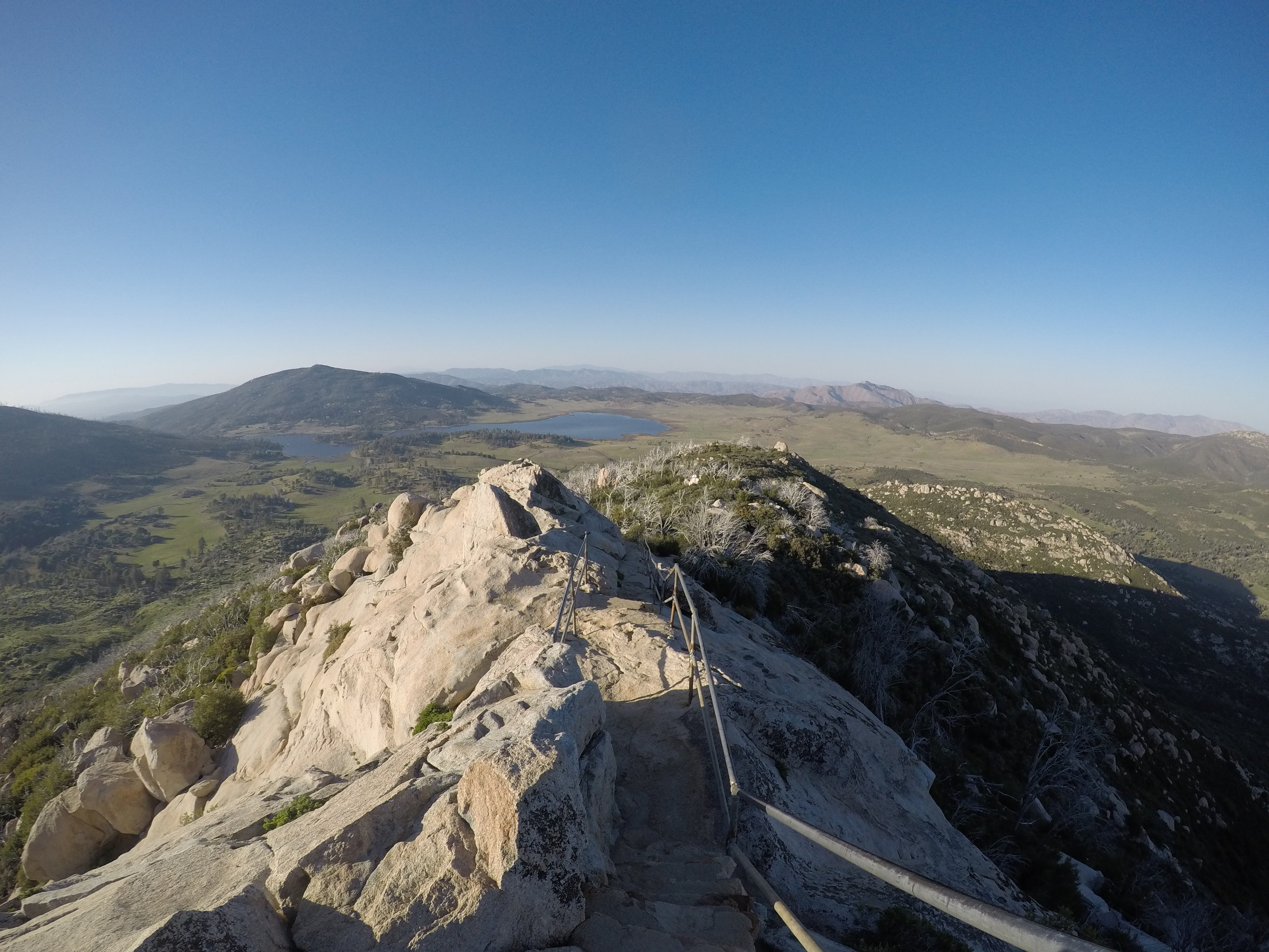 The descent off Stonewall Peak has great views and is a fun experience.