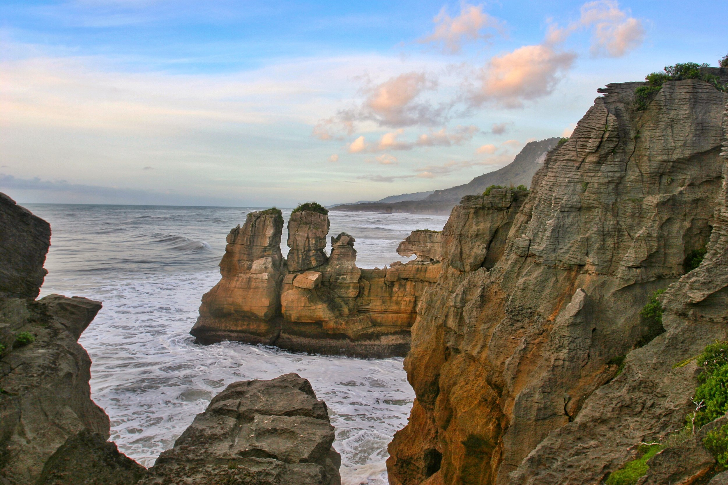 From the loop trail in the National Park, there are great views of the west coast of New Zealand's South Island