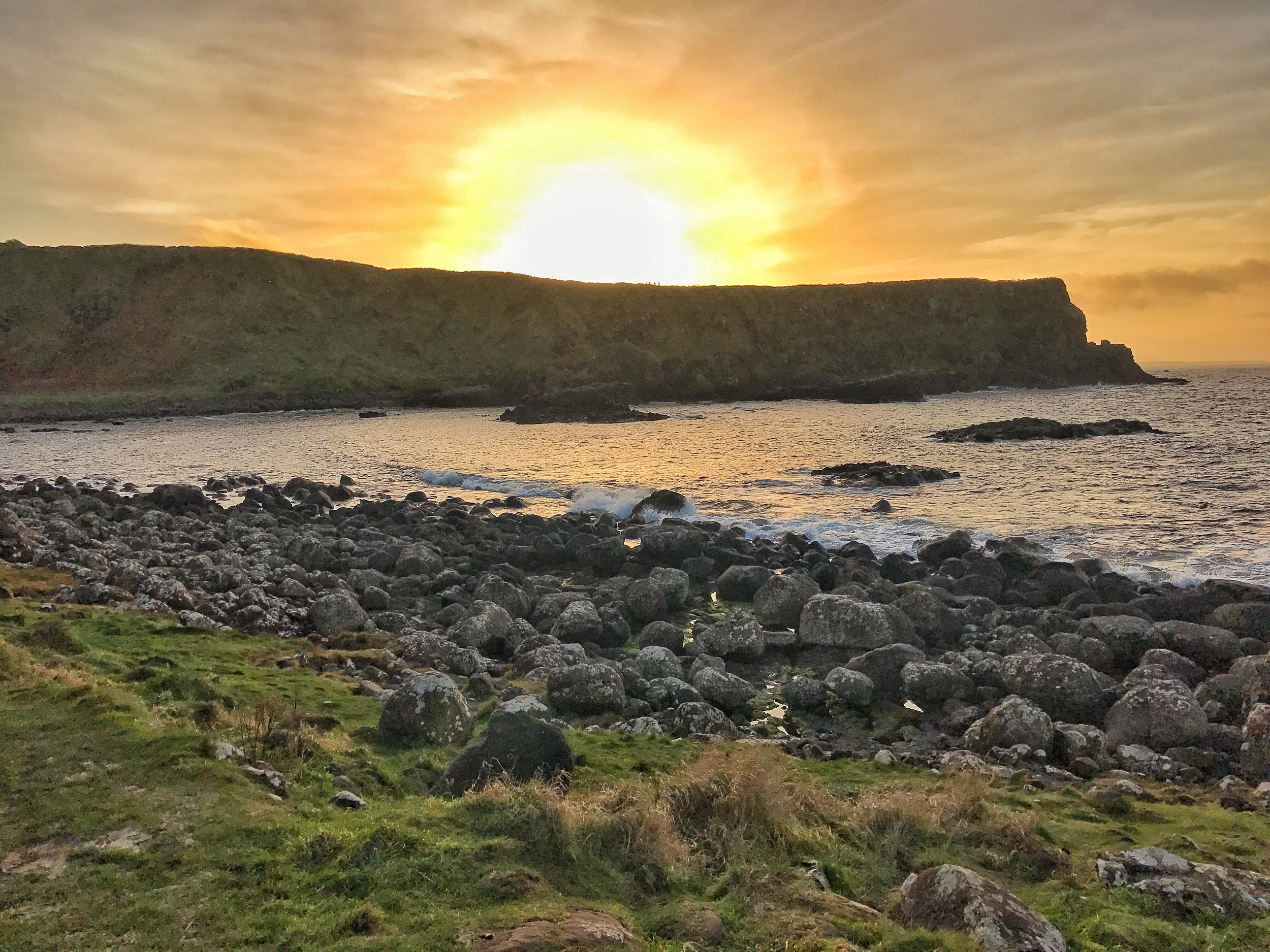 While walking to the Giant's Causeway,Portnaboe Bay has some excellent views of the Northern Atlantic Coast of Ireland.