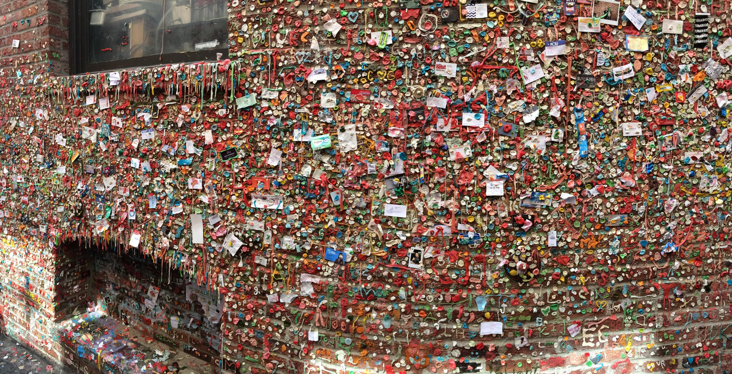 Despite being cleaned in 2015....the Gum Wall lives on in a new form.