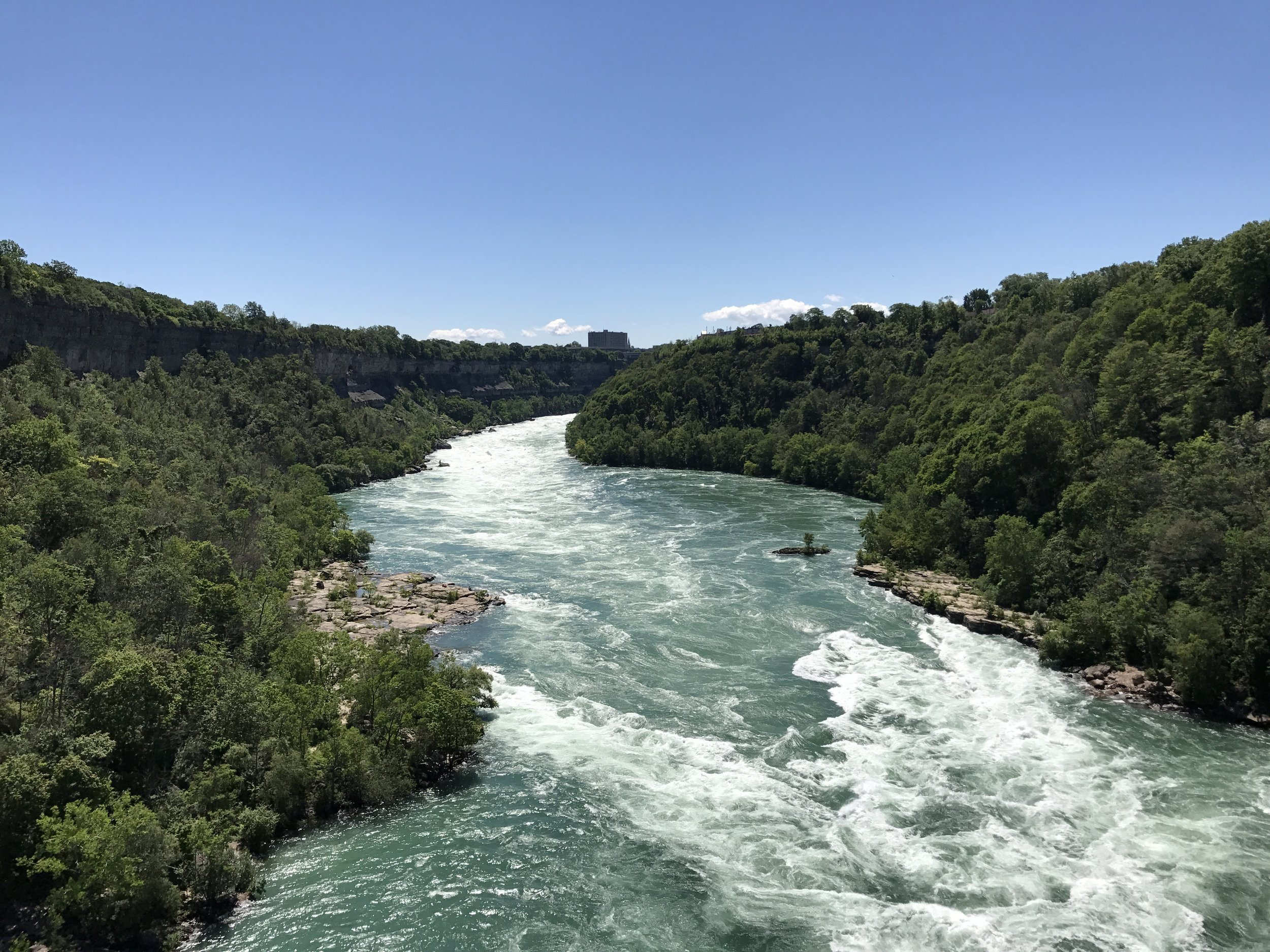 From the Aerocar, visitors have a great view of the Niagara River and Niagara Gorge.