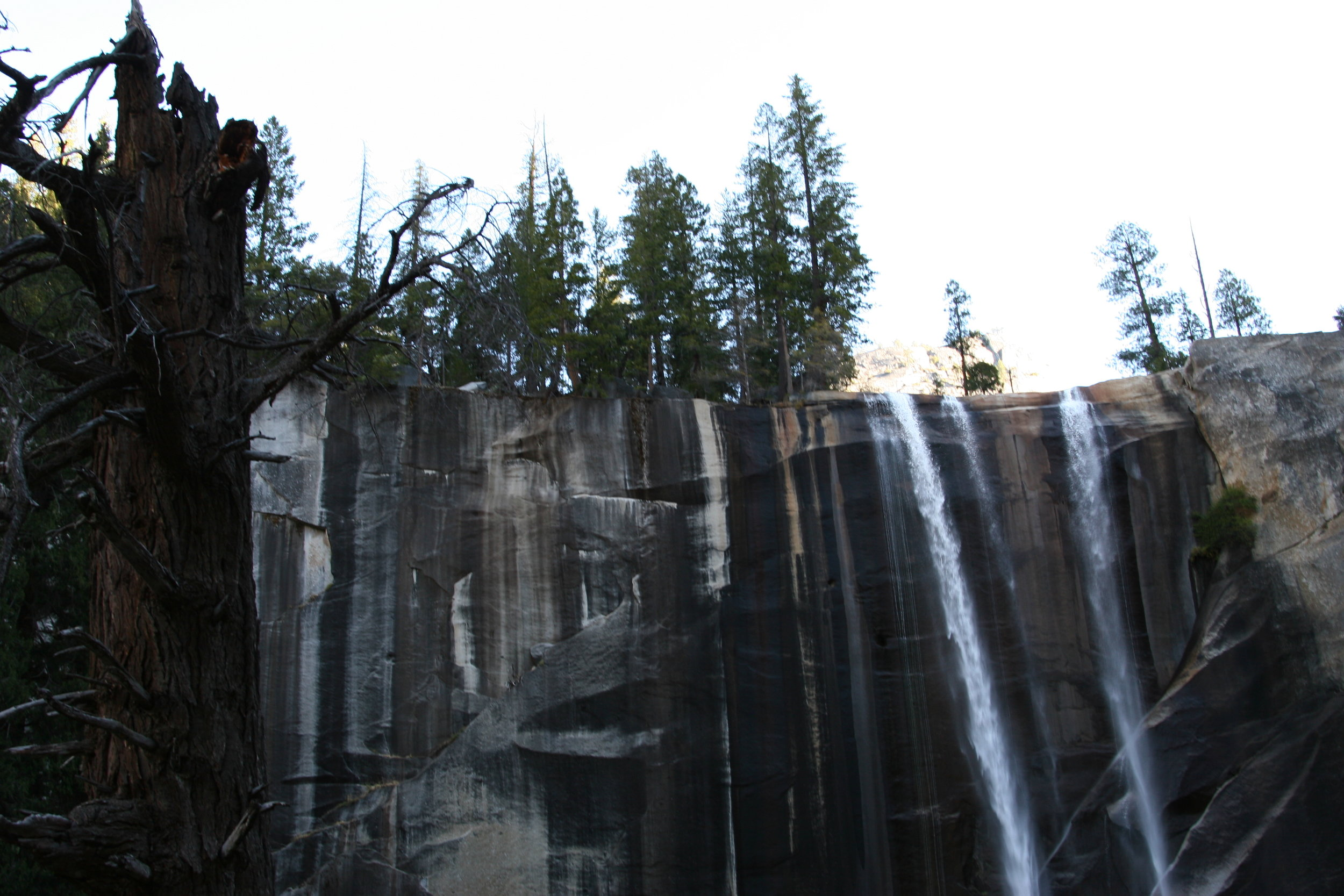 Like going up to Vernal Falls, the route to Clouds Rest ascends via the Mist Trail