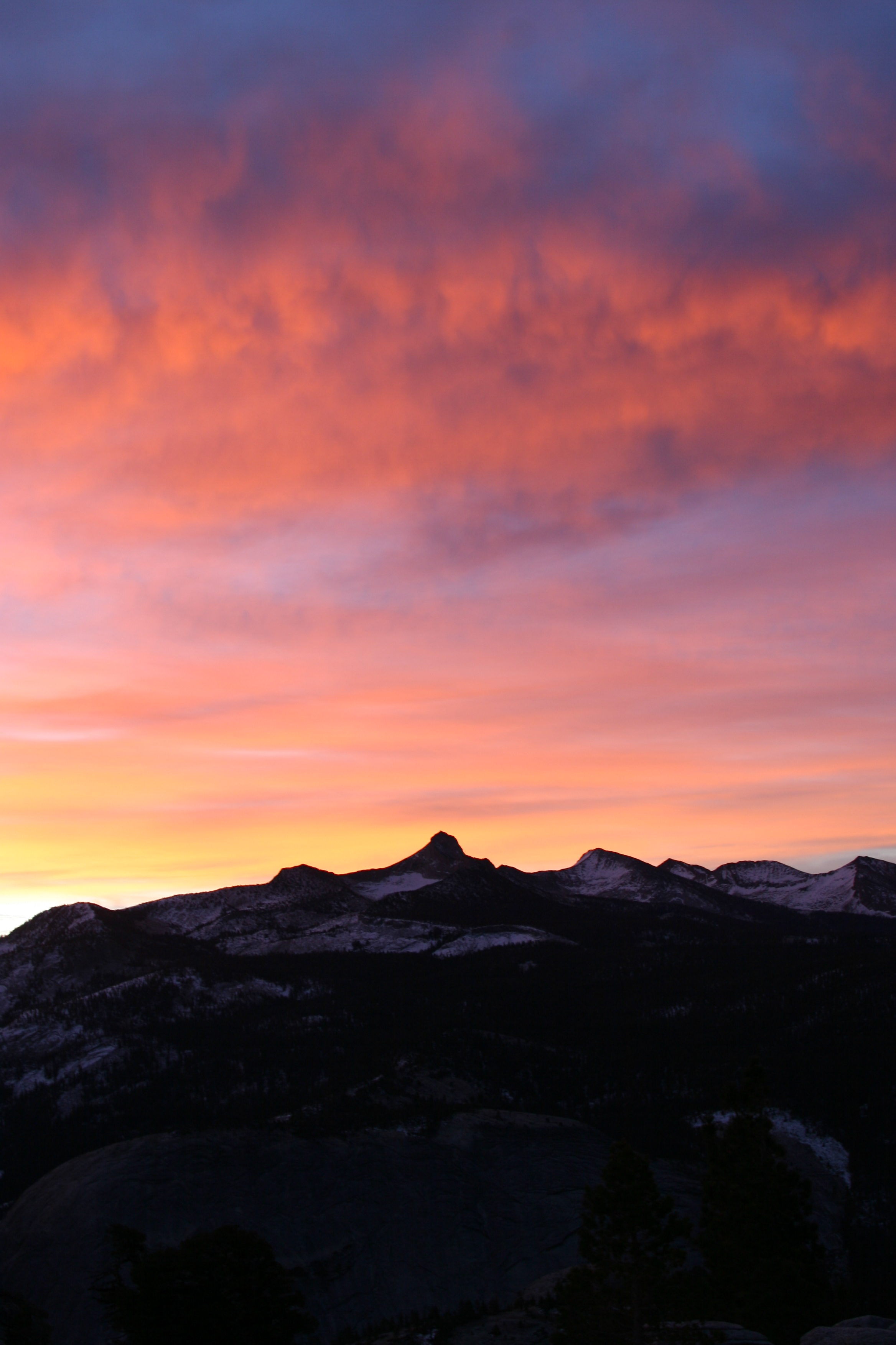 If you backpack, you may be treated to some stellar sunsets near the summit of Clouds Rest