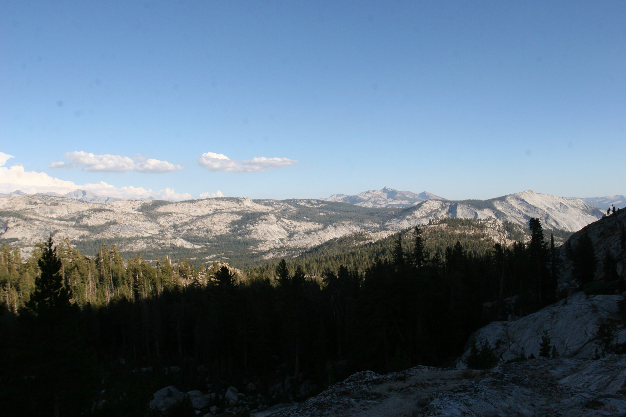 The trail to May Lake offers great views of the entire park.
