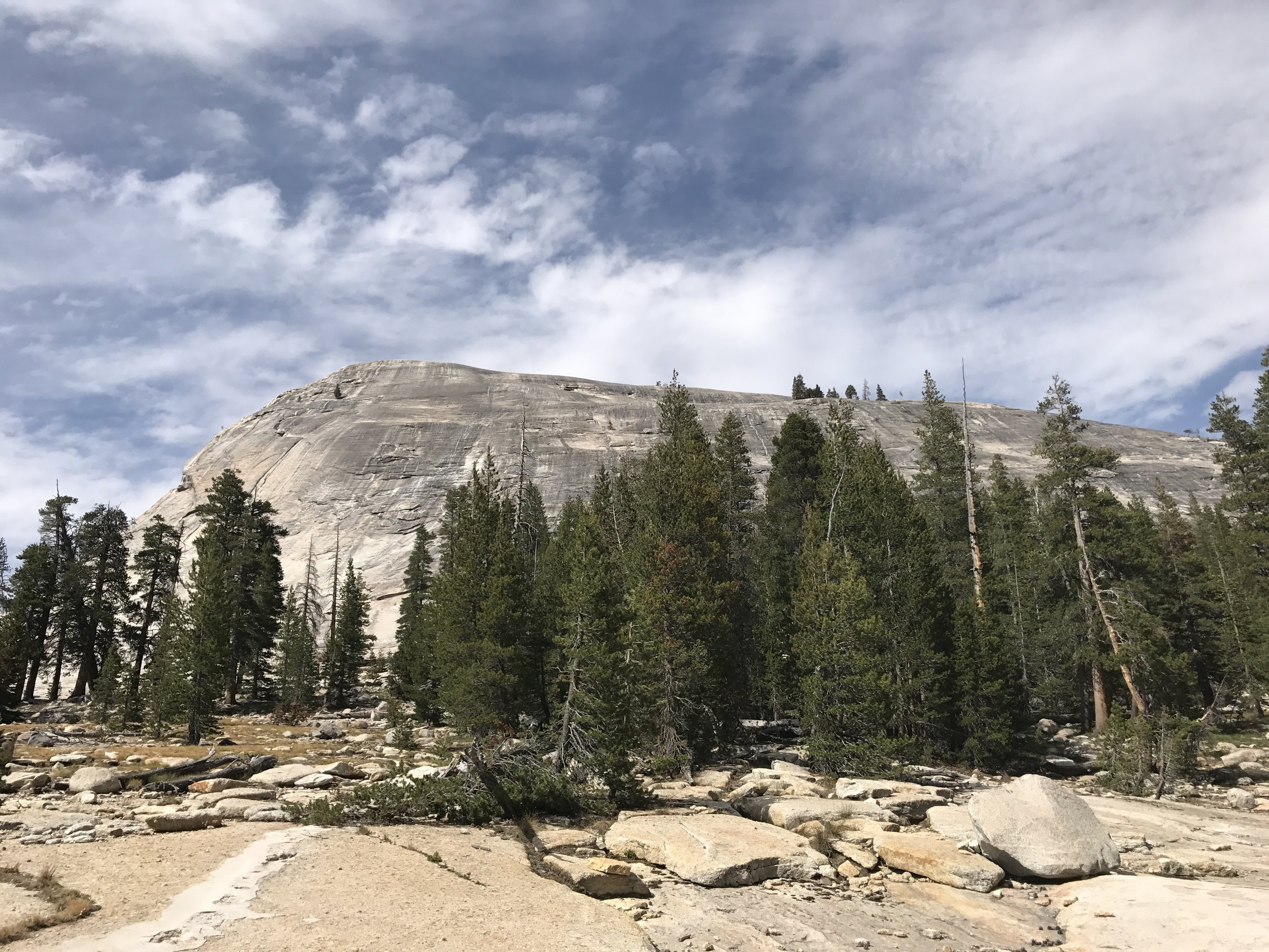 At 9,455 feet tall, Lembert Dome is also a fairly respectable sized peak for novice climbers on the eastern side of Yosemite.