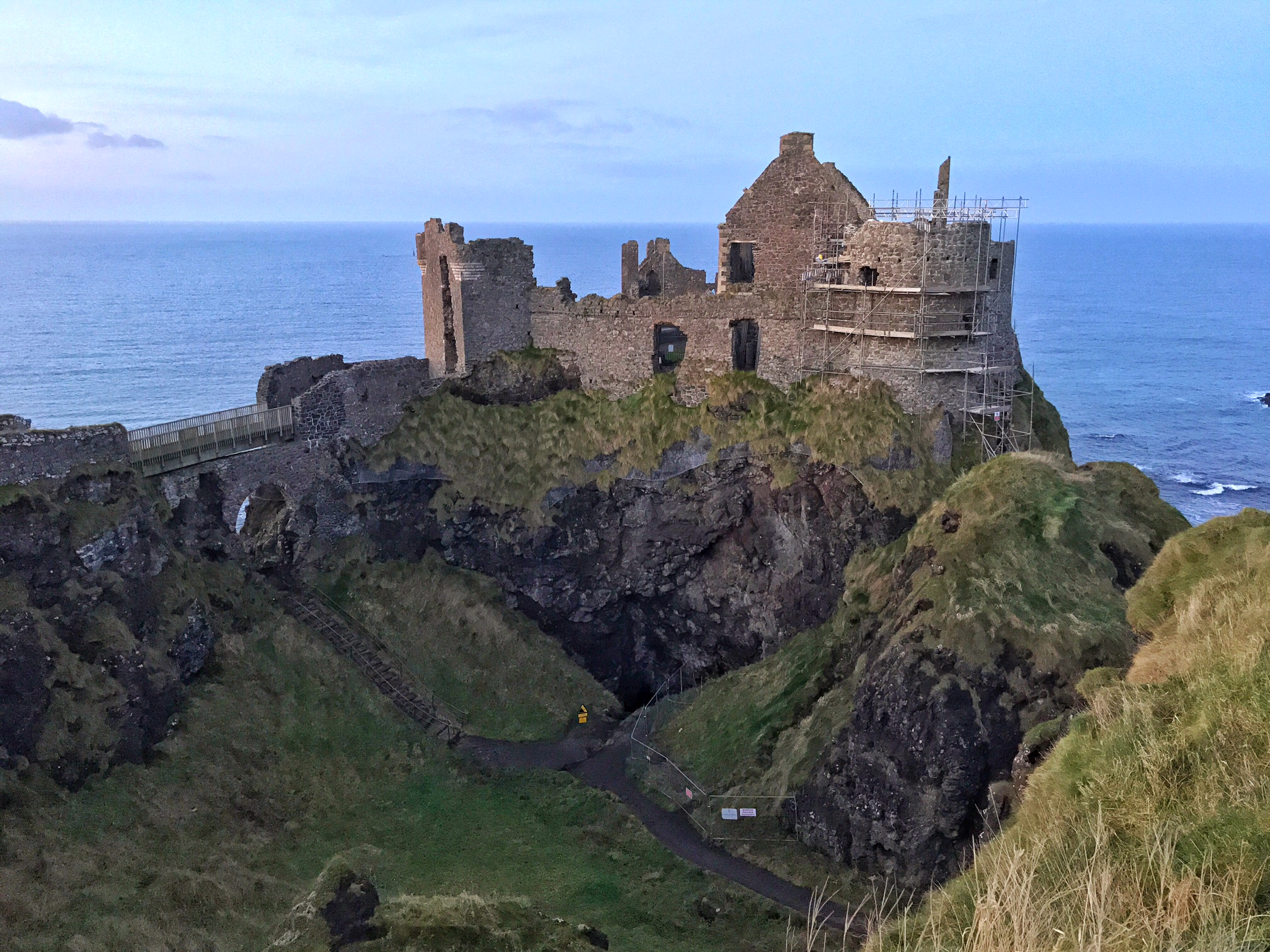 Dunluce Castle, along the Antrim Coast in Northern Ireland has a rich history.