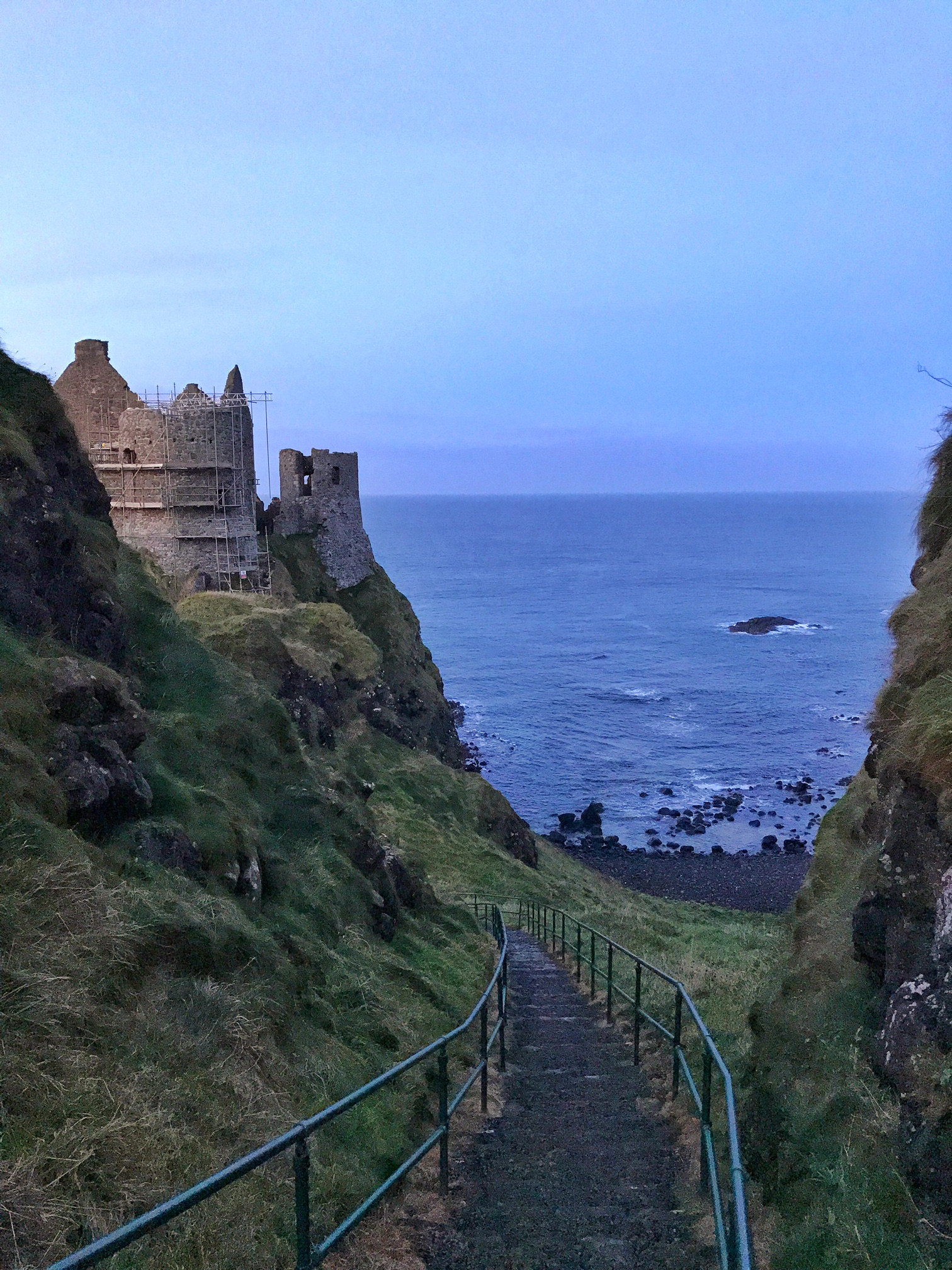 Visitors to the castle can explore the grounds, which include a walk down to the coast, past the cave.