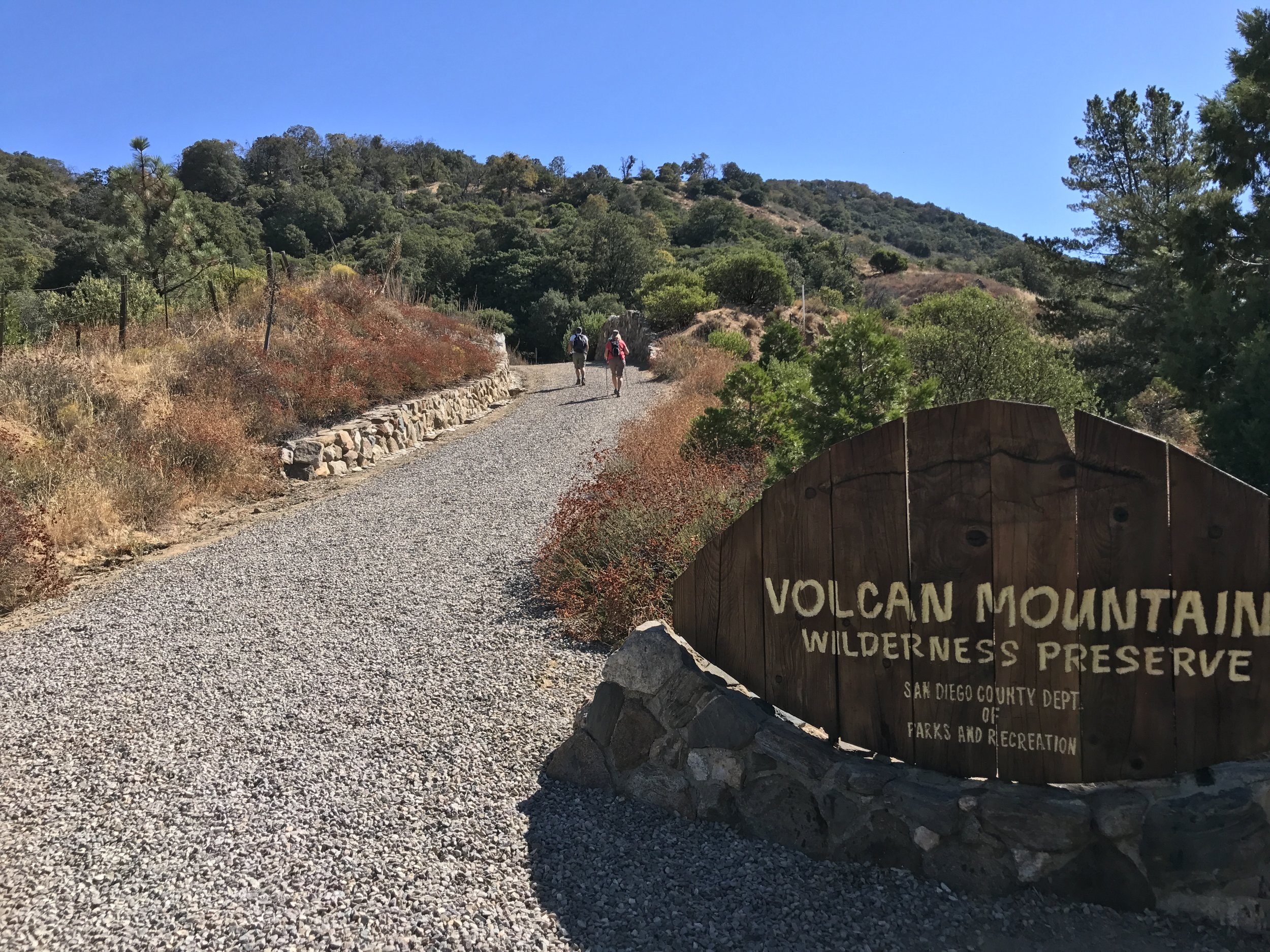 The preserve has two trails: the 5 Oaks Trail; and the main trail, both of which head to the summit.