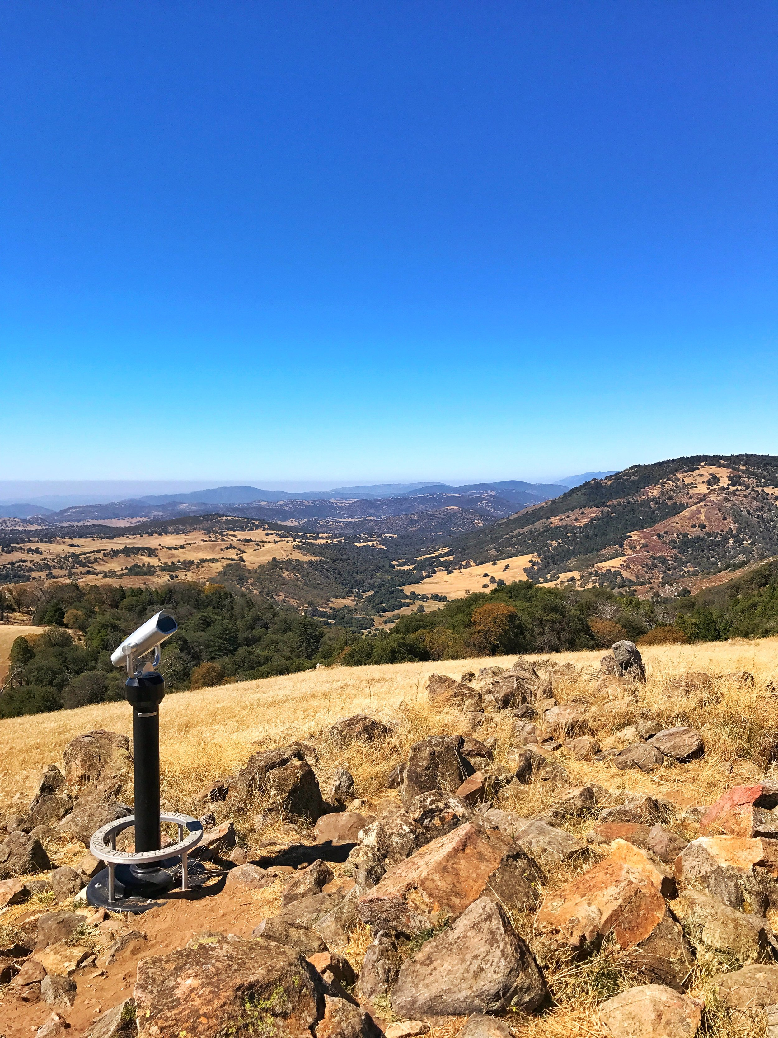 Volcan Mountain was one of two spots selected as a spot for the Hale Telescope. While the telescope ended up on Mount Palomar, Volcan Mountain still has amazing views.