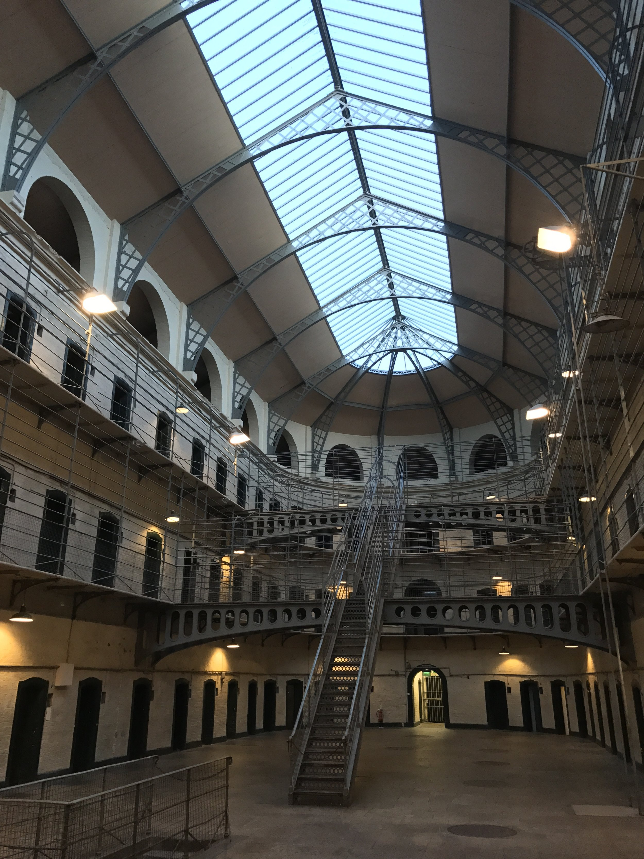 This surreal ward in Kilmainham Gaol is the most photographed and unique architectural location in the entire facility.