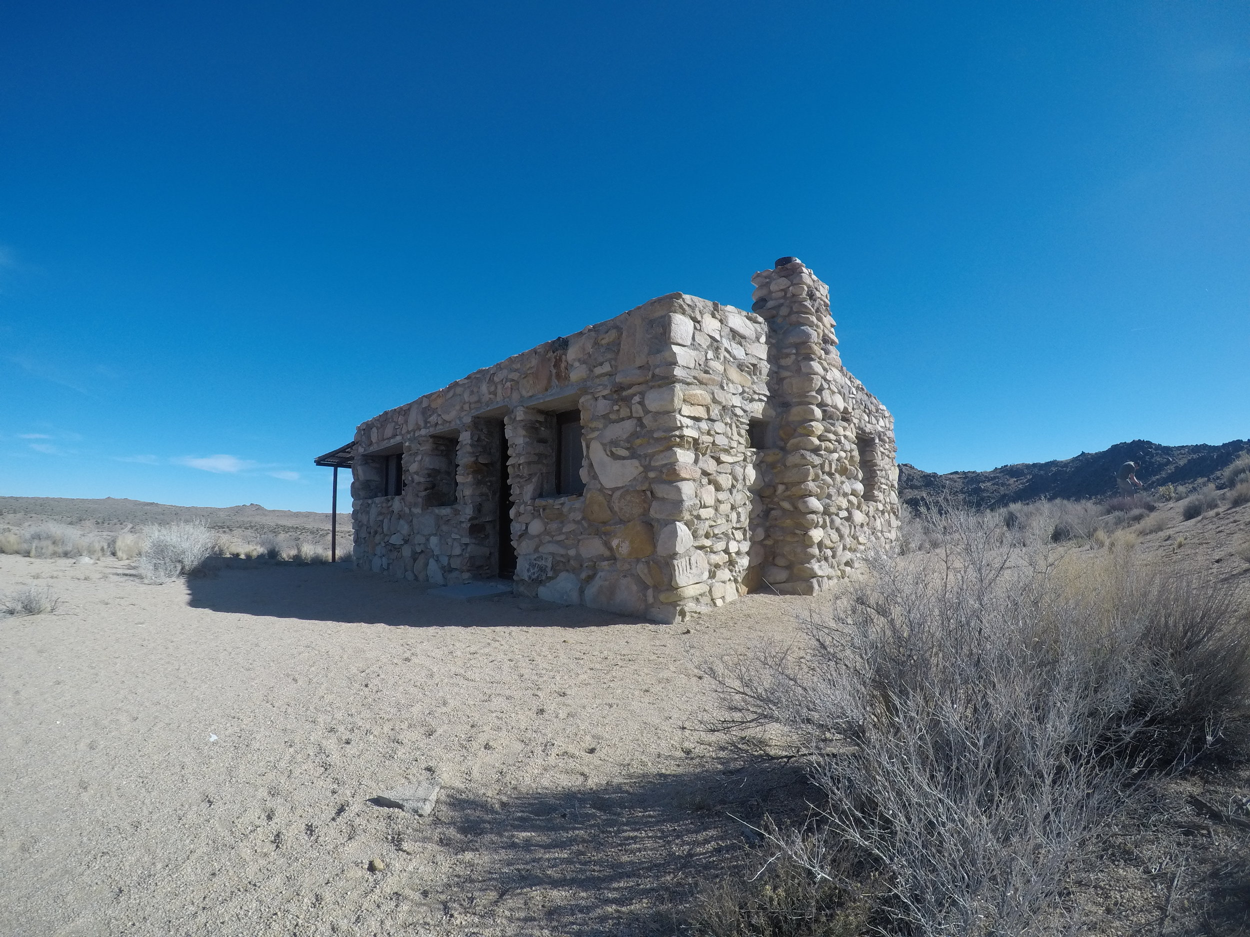 Today the Rock Spring - or Bert Smith Cabin - is a historic curiosity in the middle of the Mojave National Preserve