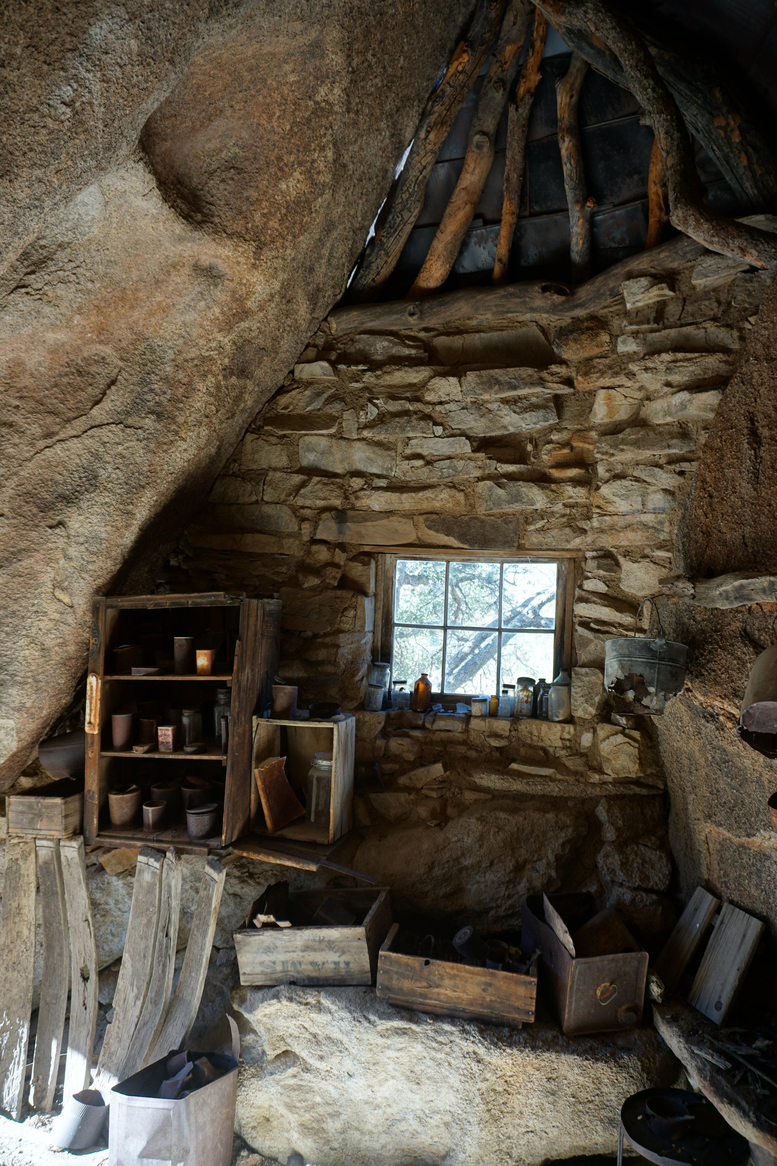 Interior, Eagle Cliff Mine cabin