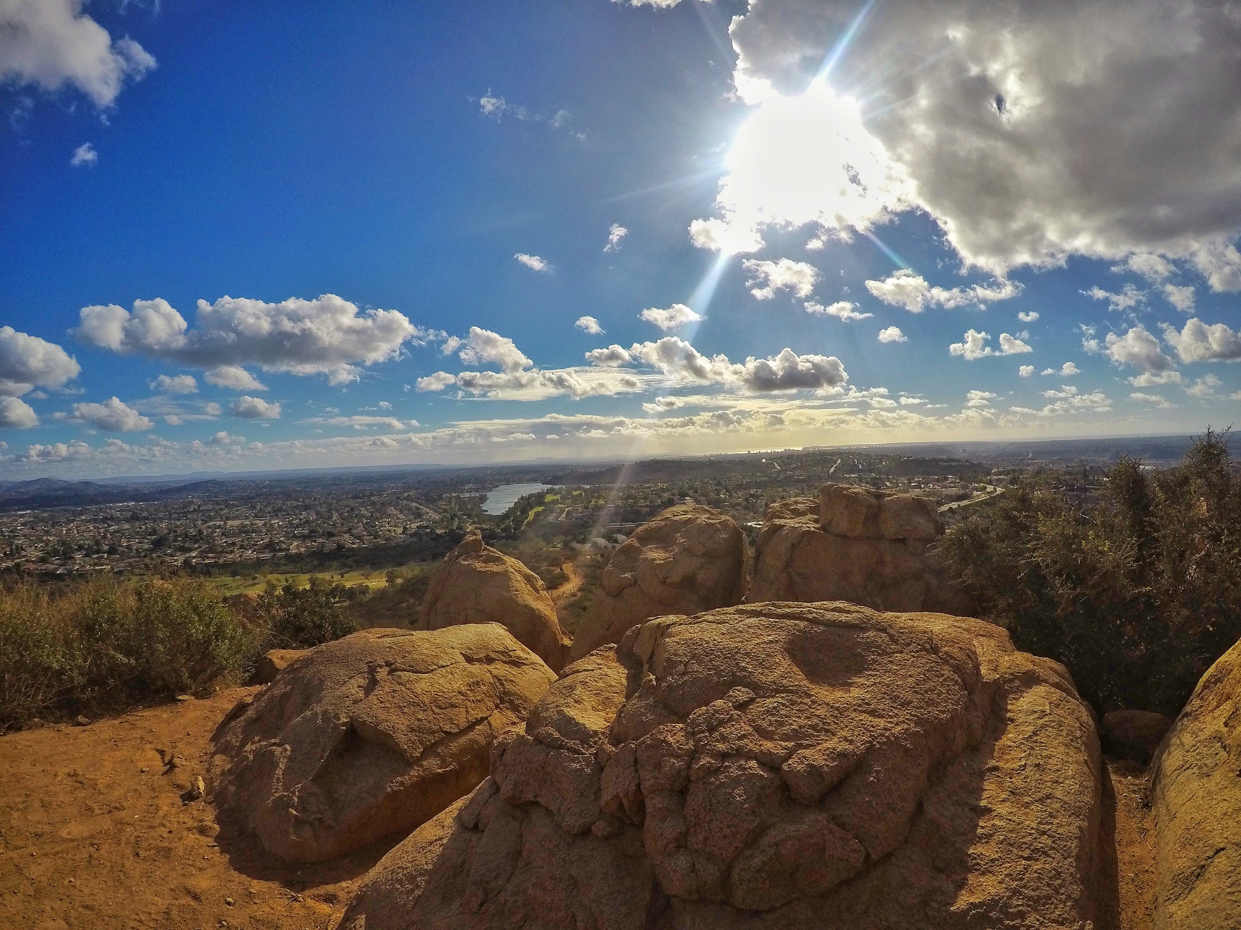 Even though it is popular, the Cowles Mountain main trail has some excellent views of the city and beyond.