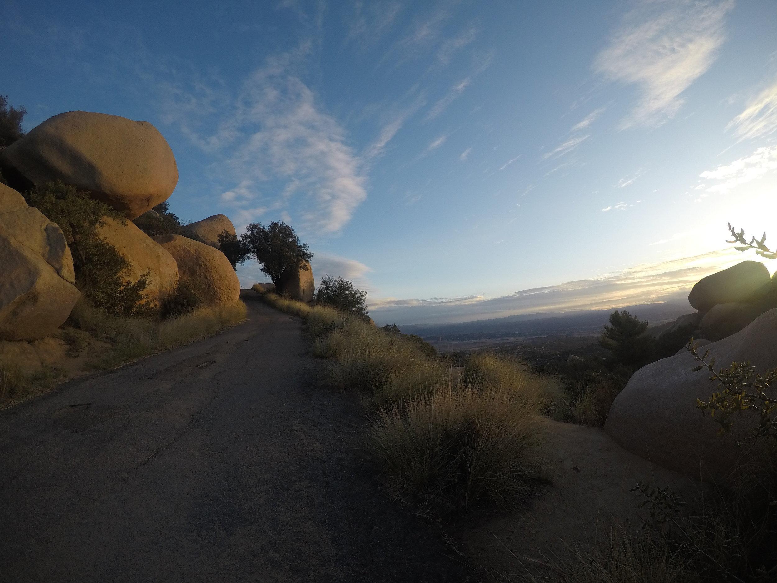 Mount Woodson has plenty of great rocks, including Potato Chip Rock to climb upon.
