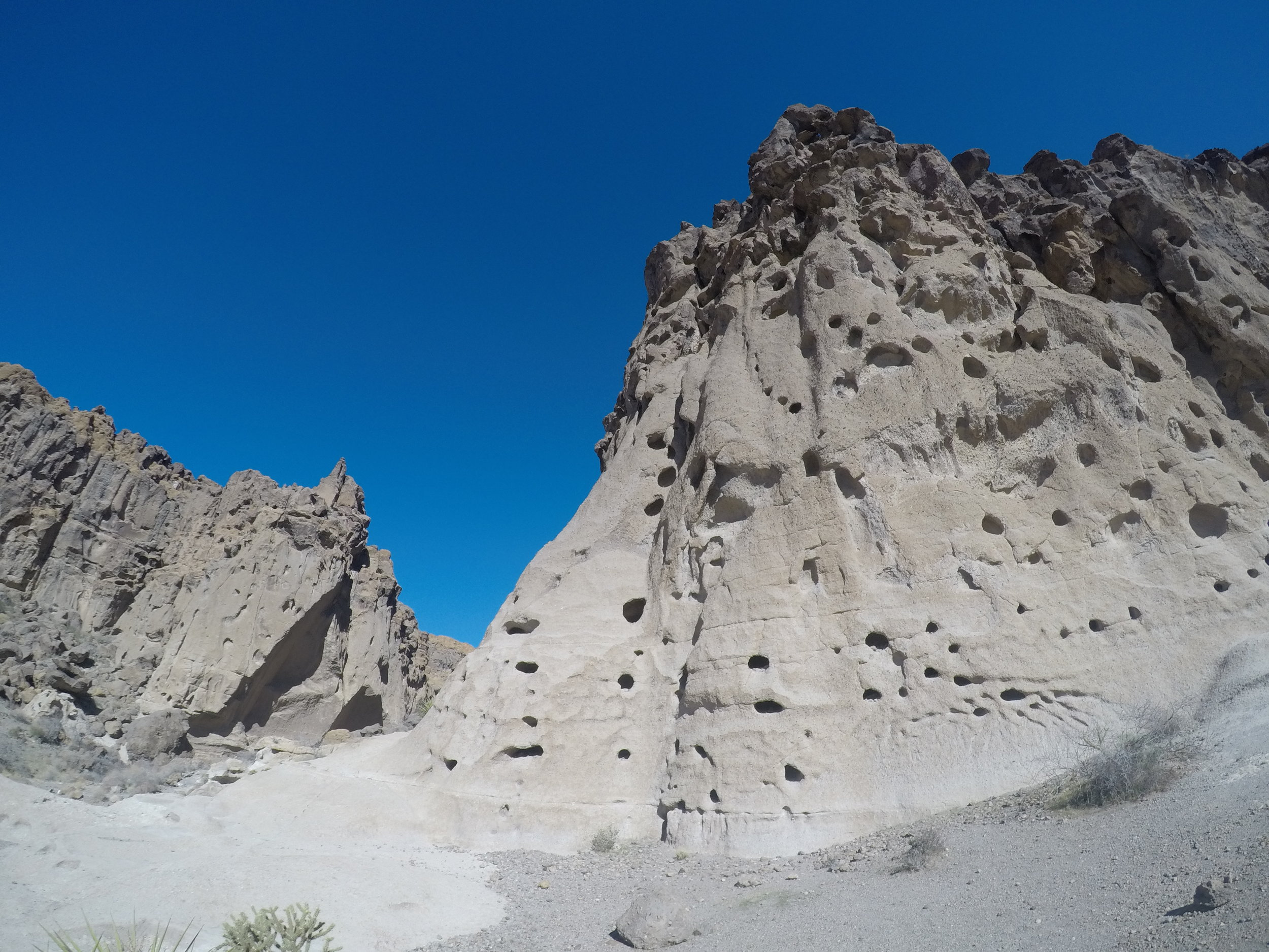 The features of Banshee Canyon were caused by active volcanism in the region many years ago.