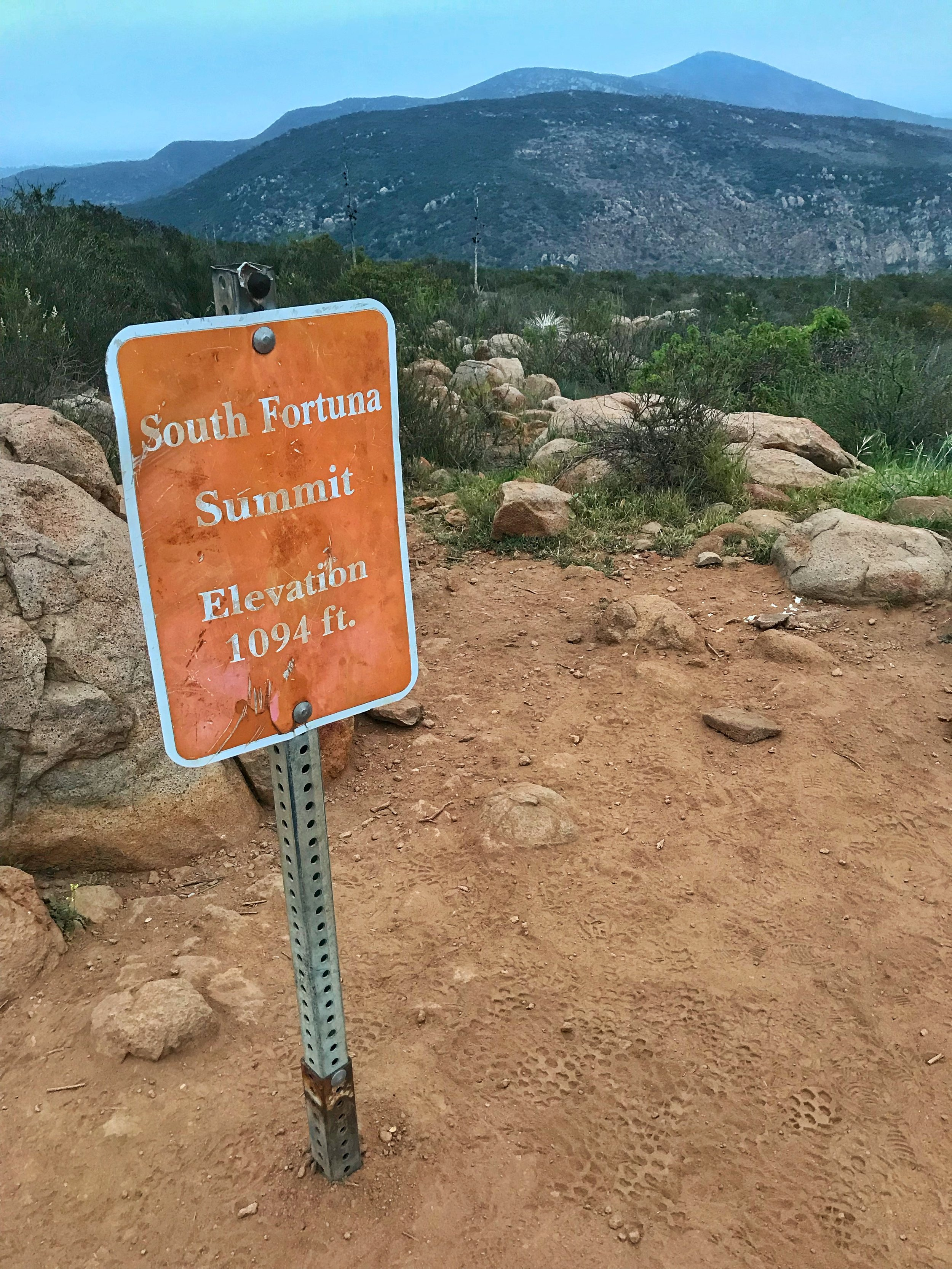 From the summit, hikers have great views of Pyles Peak and Cowles Mountain, among other areas in the county.