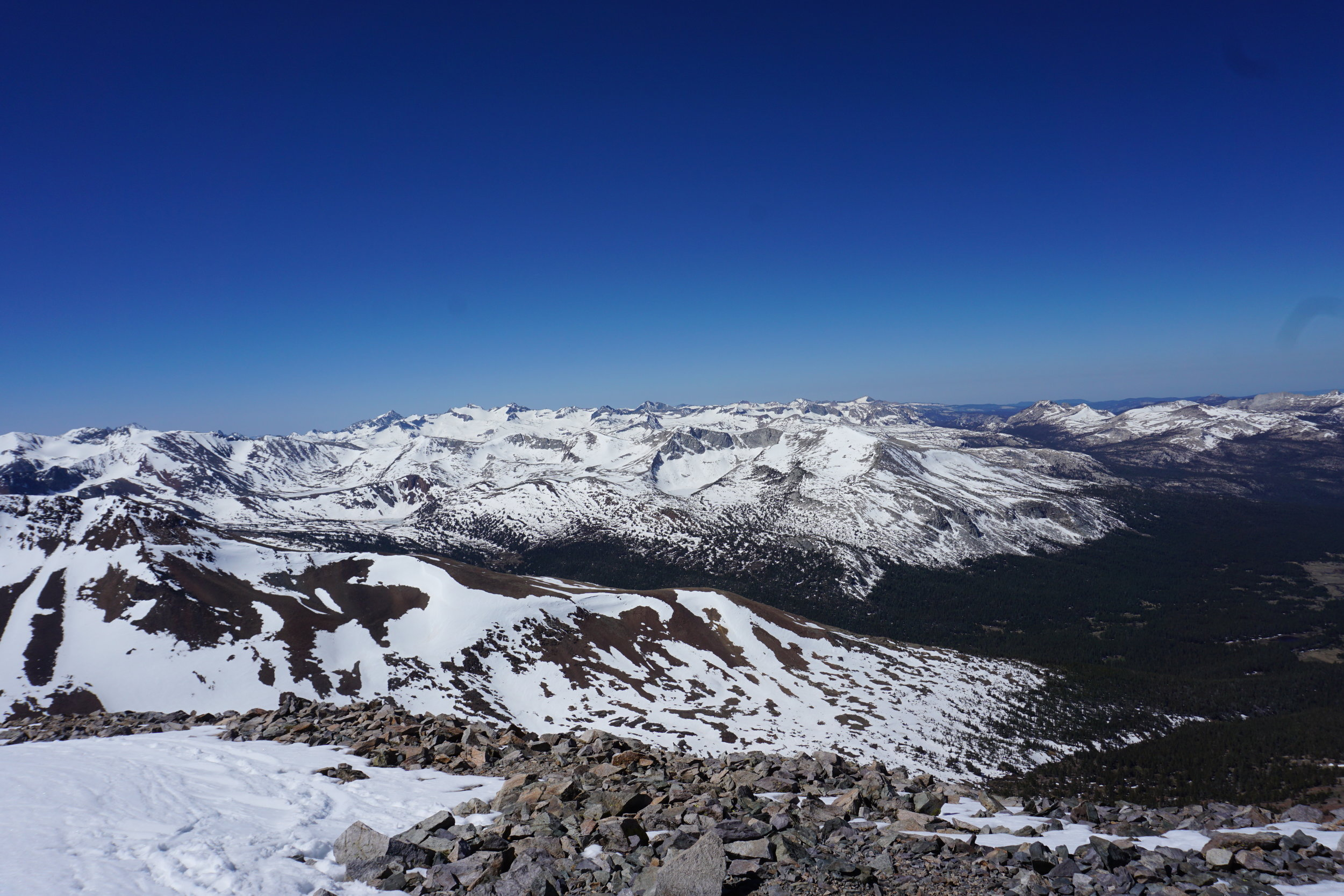 No matter which way one looks from the summit of Mount Dana, there is a great view.