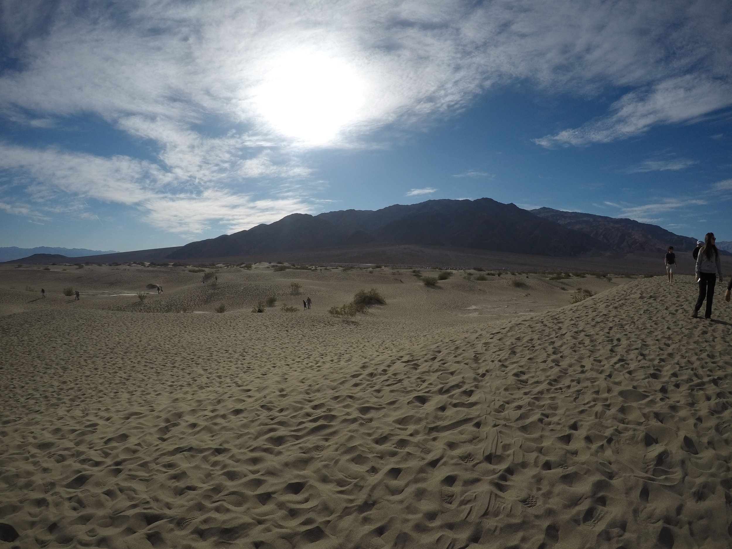 The Mesquite Flat Sand Dunes are one of the park's most popular destinations.