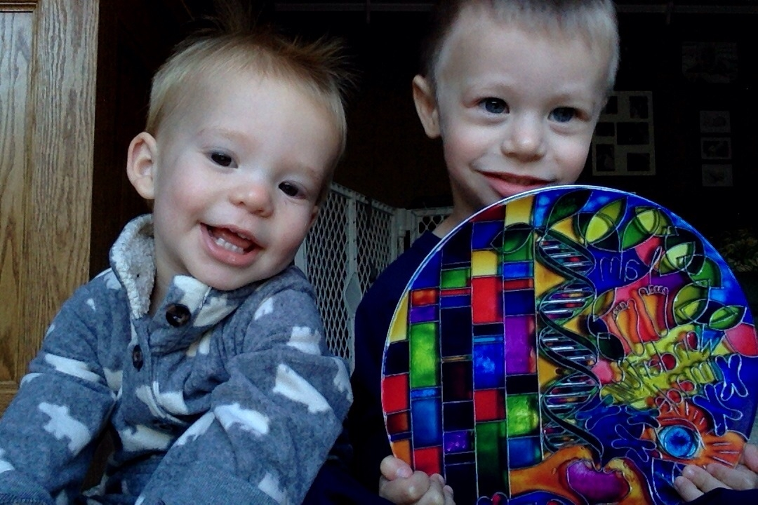Our two grandsons -  fearfully and wonderfully made