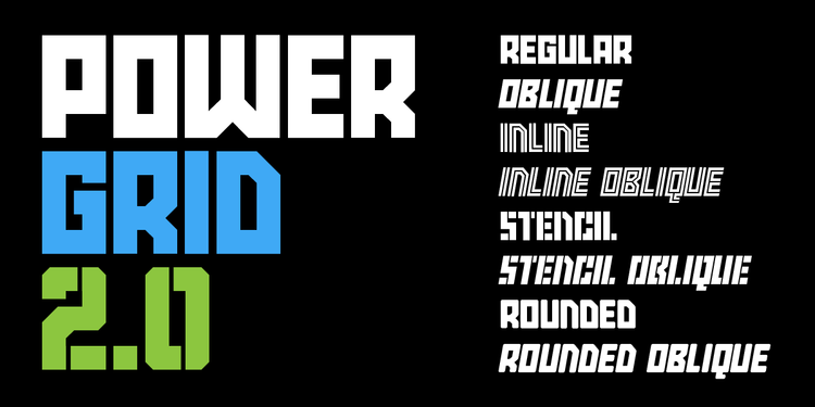 New Fonts: Power Grid 2 0 and Saluda — Sketchbook B