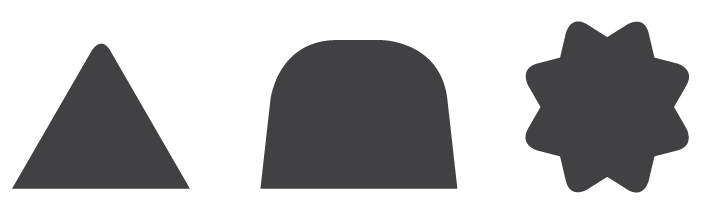 Pretty much the only way to make these shapes in InDesign is with the Corner Effects Script.