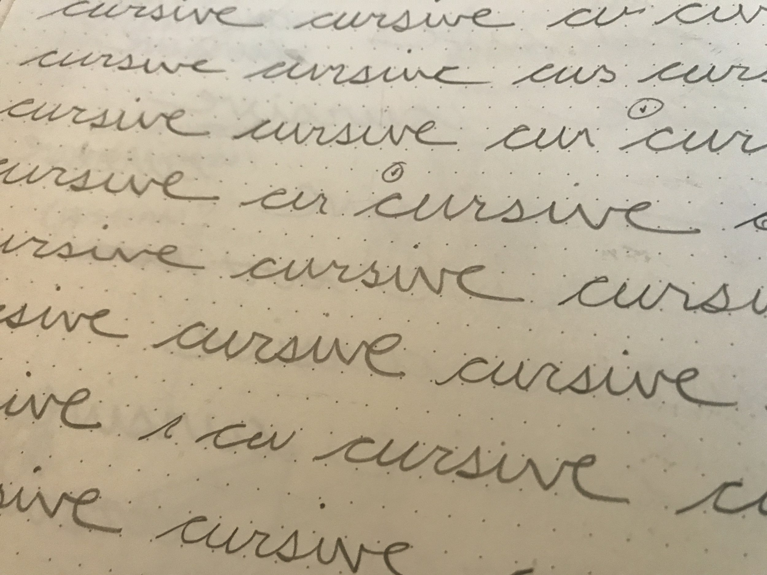 A couple of my cursive options.