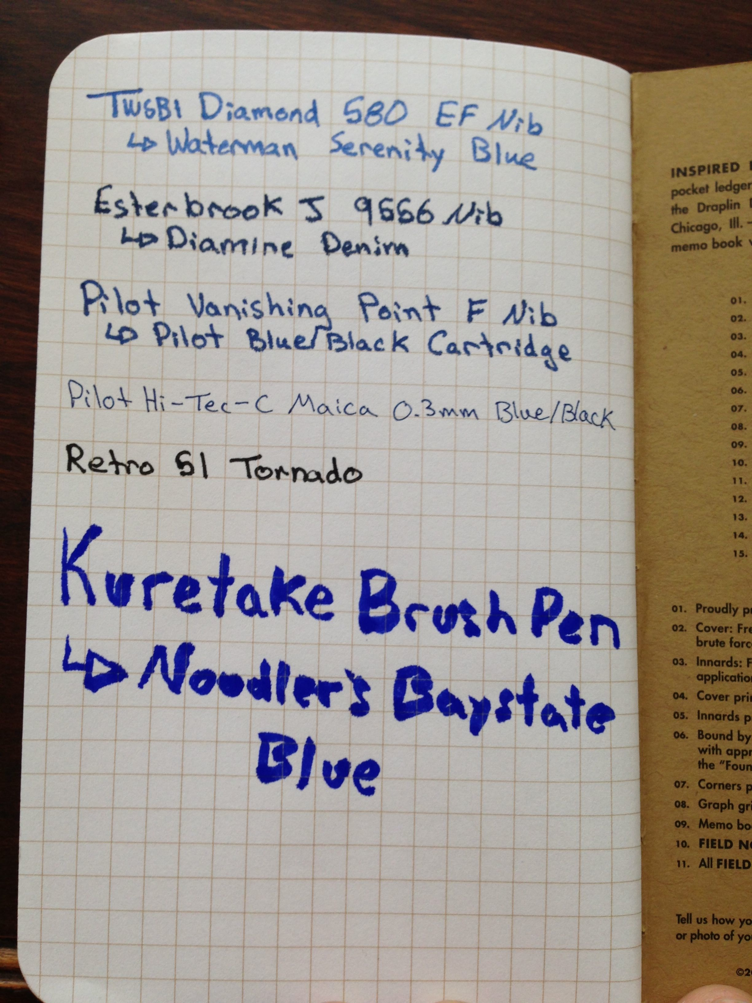 Field Notes Front
