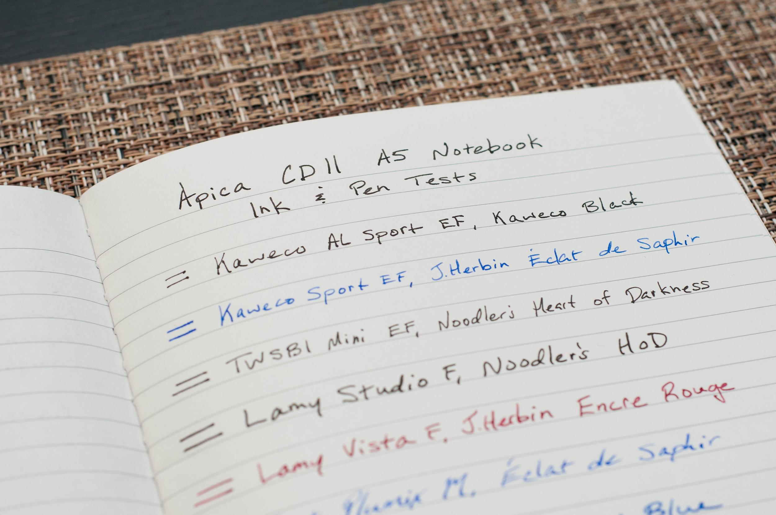 Apica CD Notebook Ink Test.jpg