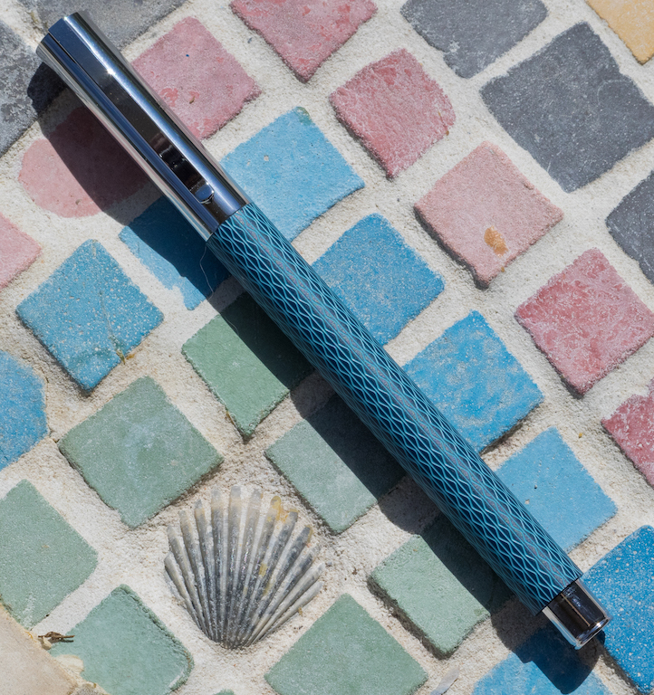 FABER CASTELL AMBITION OPART BLUE OCEAN WITH CHROME PLATED FINISH BALL POINT PEN