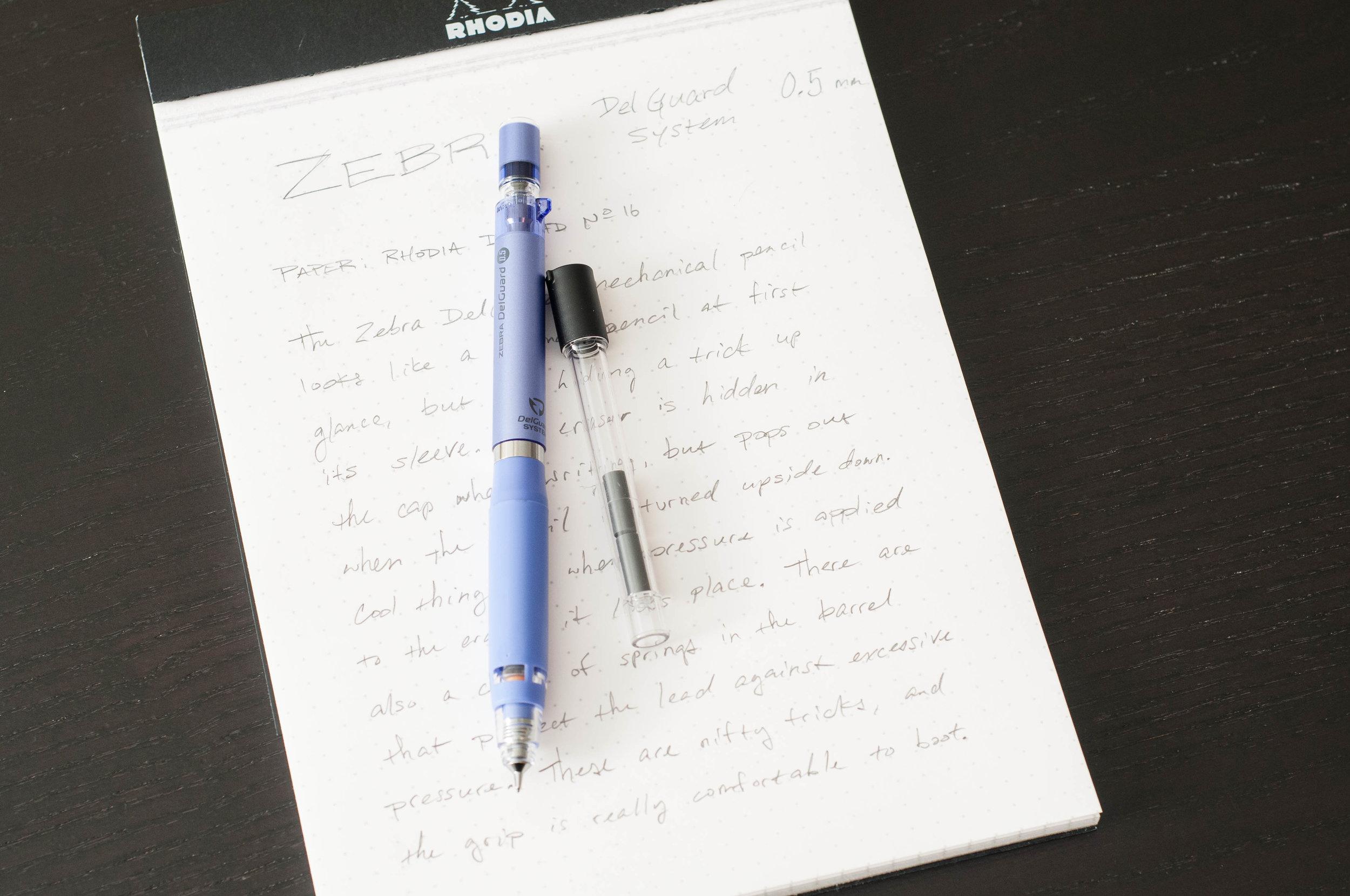 zebra delguard type er mechanical pencil review the pen addict