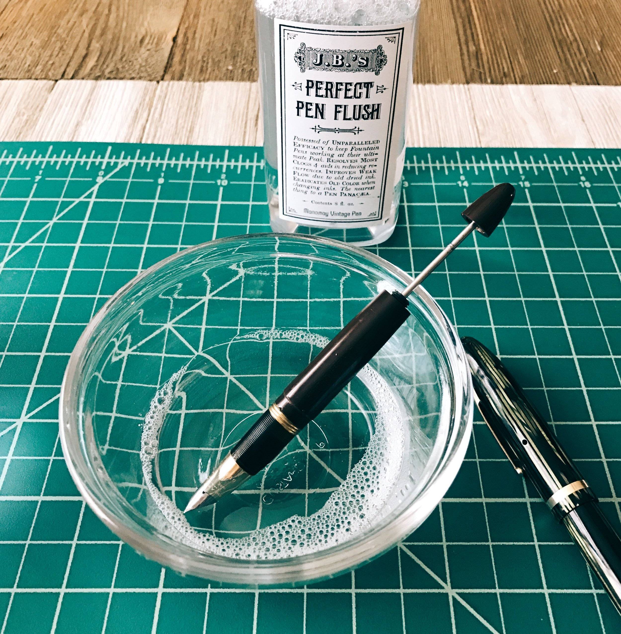 Flushing with J.B.'s Pen Flush