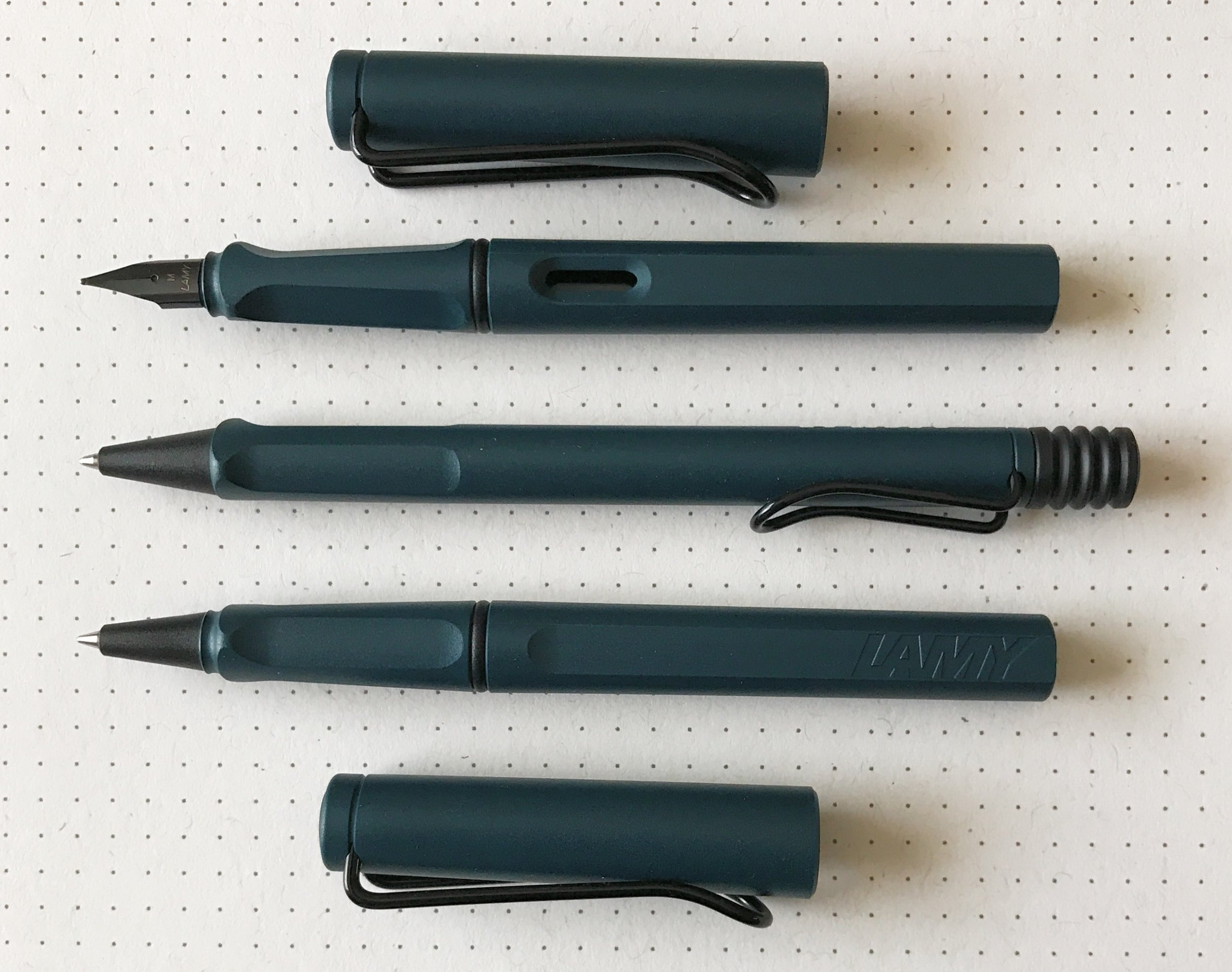 Lamy Safari Petrol Fountain Pen Rollerball And Ballpoint Pen Giveaway The Pen Addict