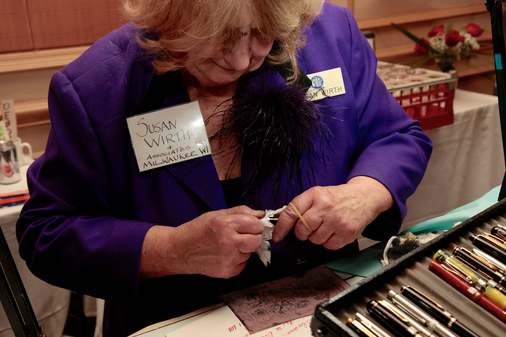 Susan working on this pen
