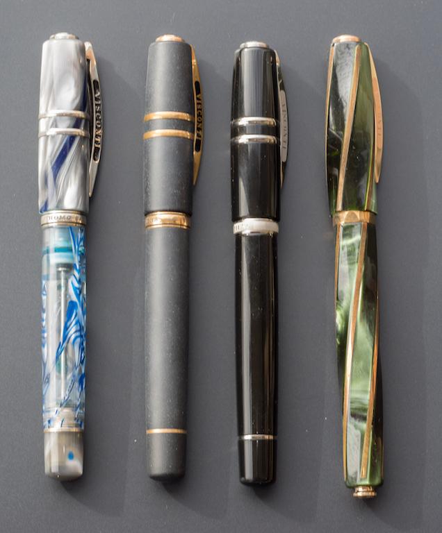 Left to right: Visconti London Fog, Homo Sapiens Bronze Age, Homo Sapiens Elegance, and Divina Elegance