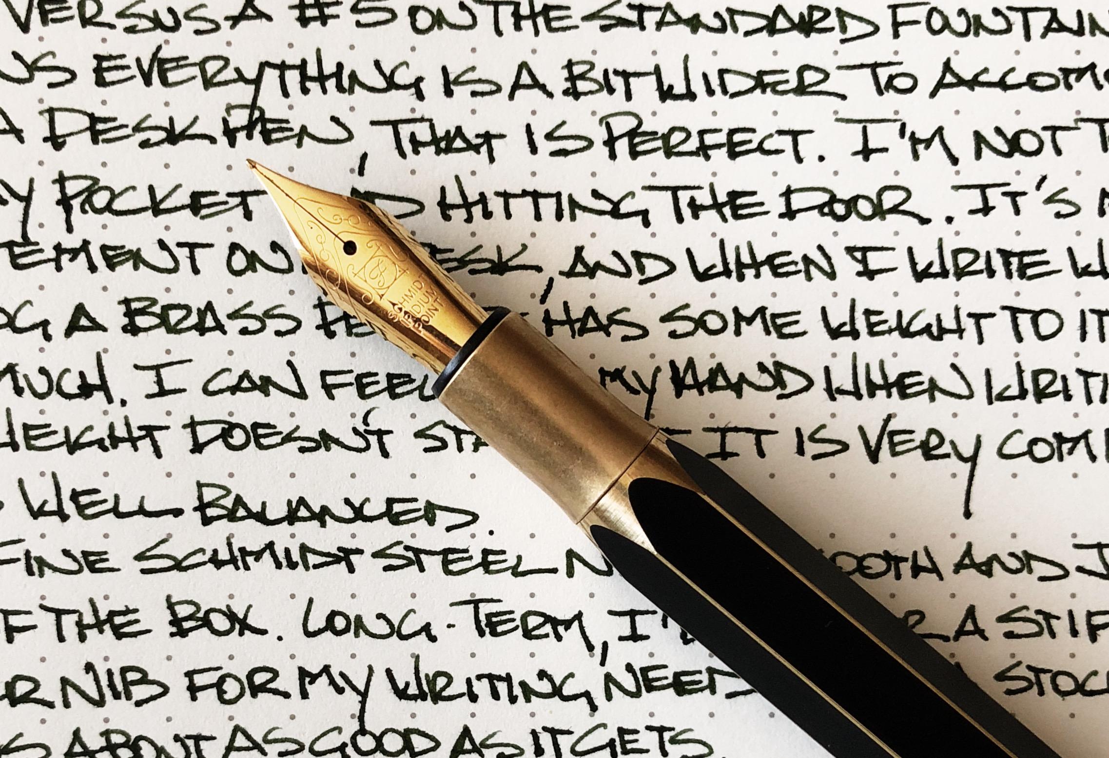 ystudio Brassing Desk Fountain Pen writing