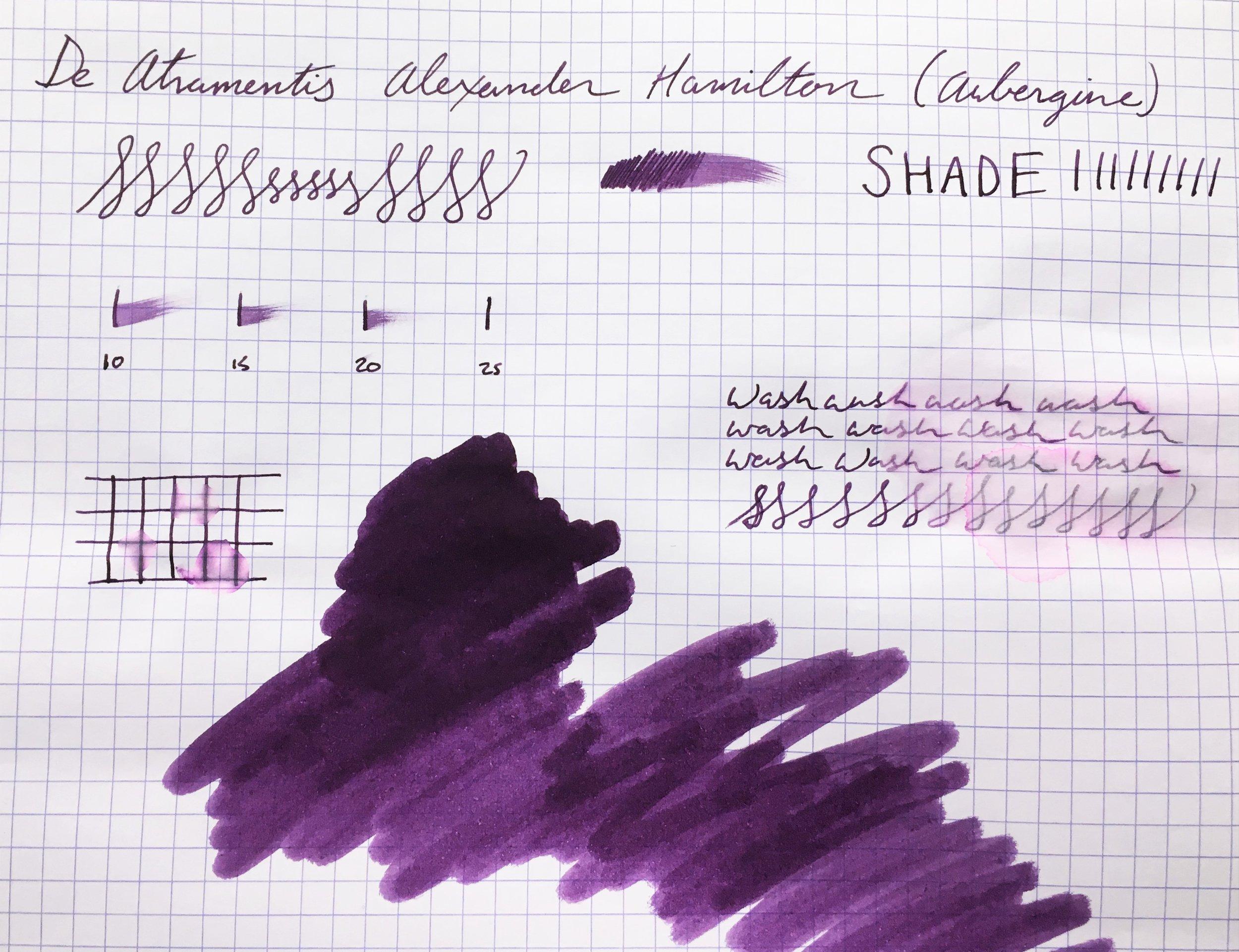 Alexander Hamilton Ink Sample