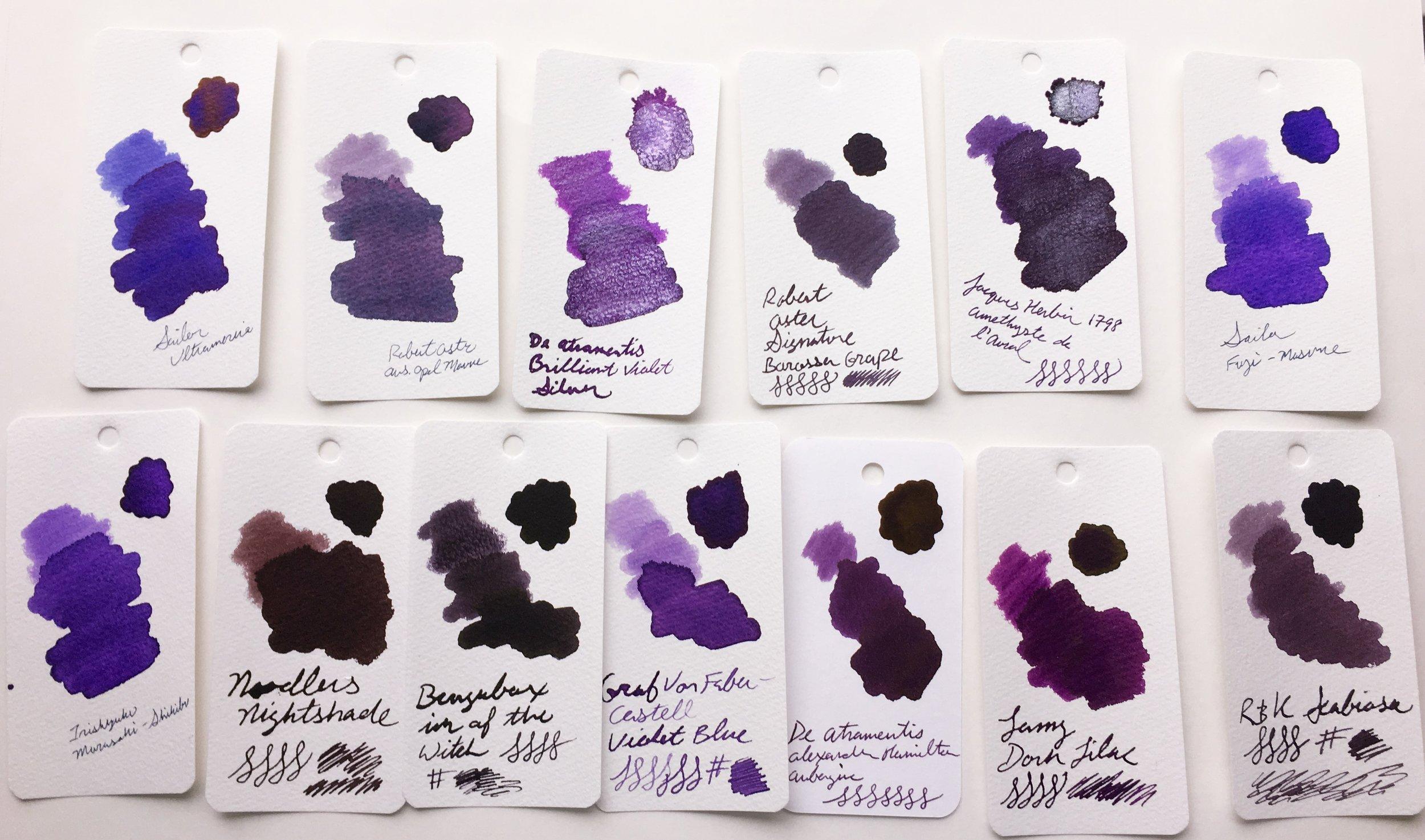 Alexander Hamilton Ink Purple
