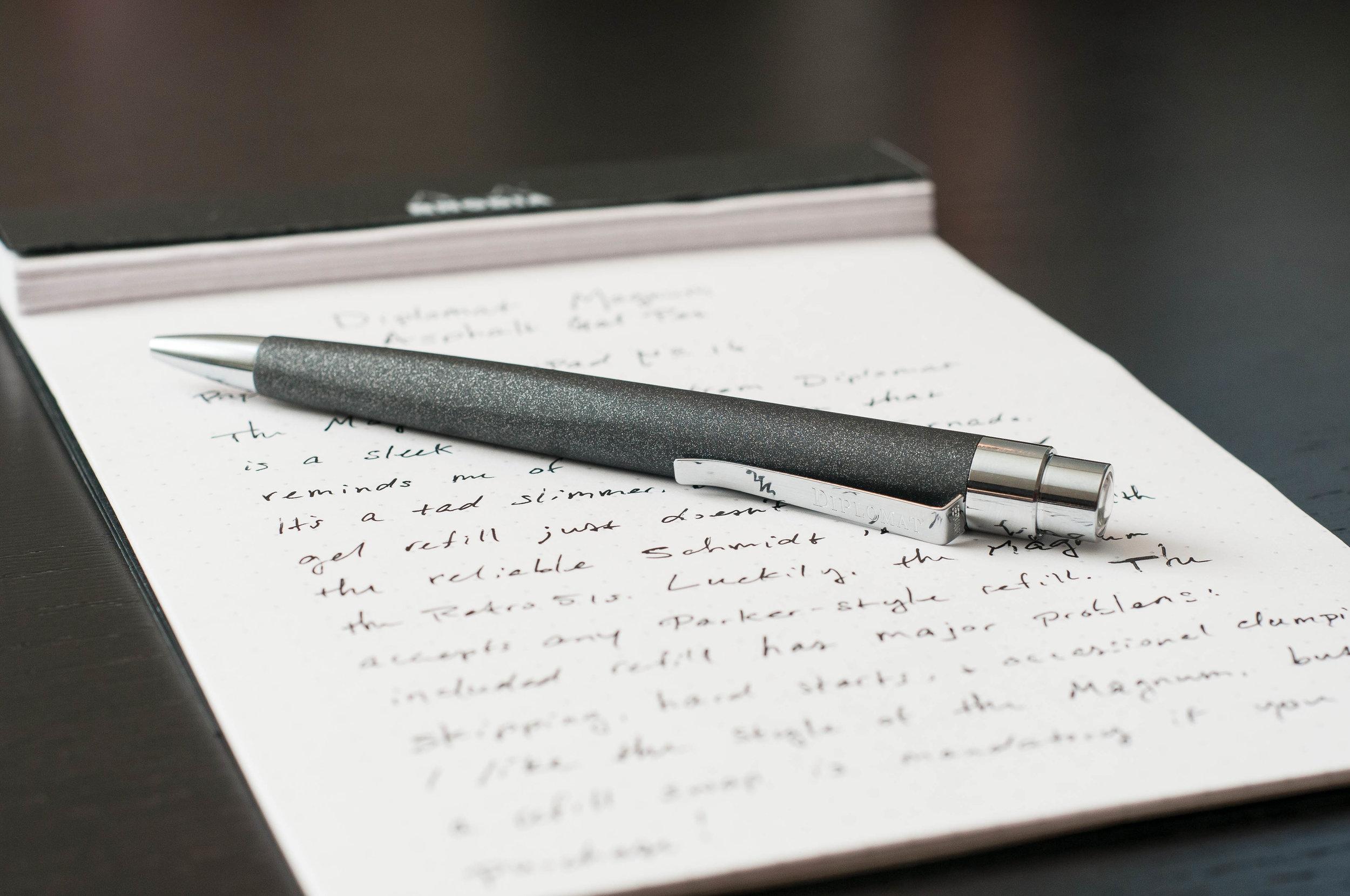 Diplomat Magnum Gel Pen Review