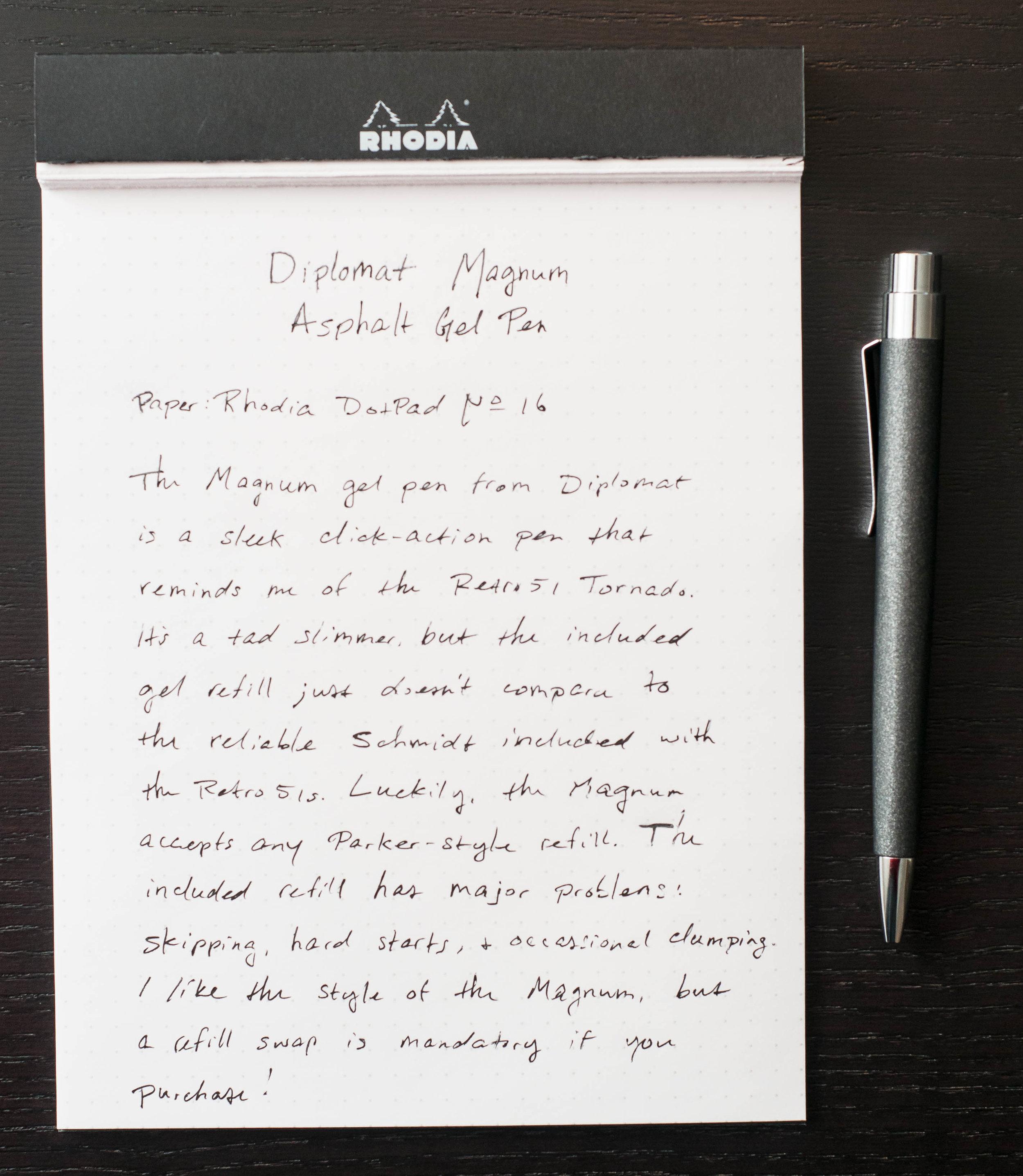 Diplomat Gel Pen Review