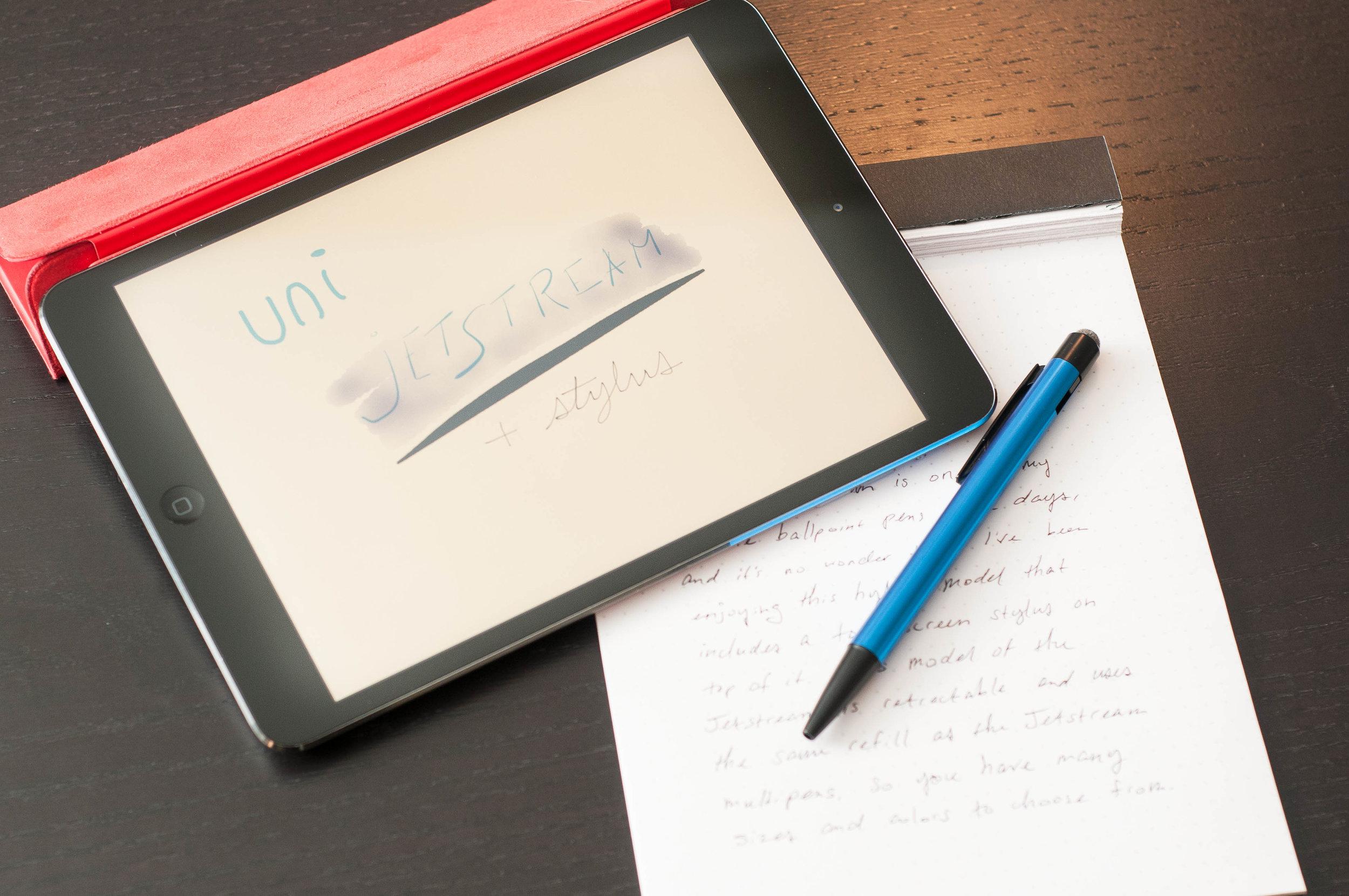 Uni Jetsteam Stylus Ballpoint Pen iPad