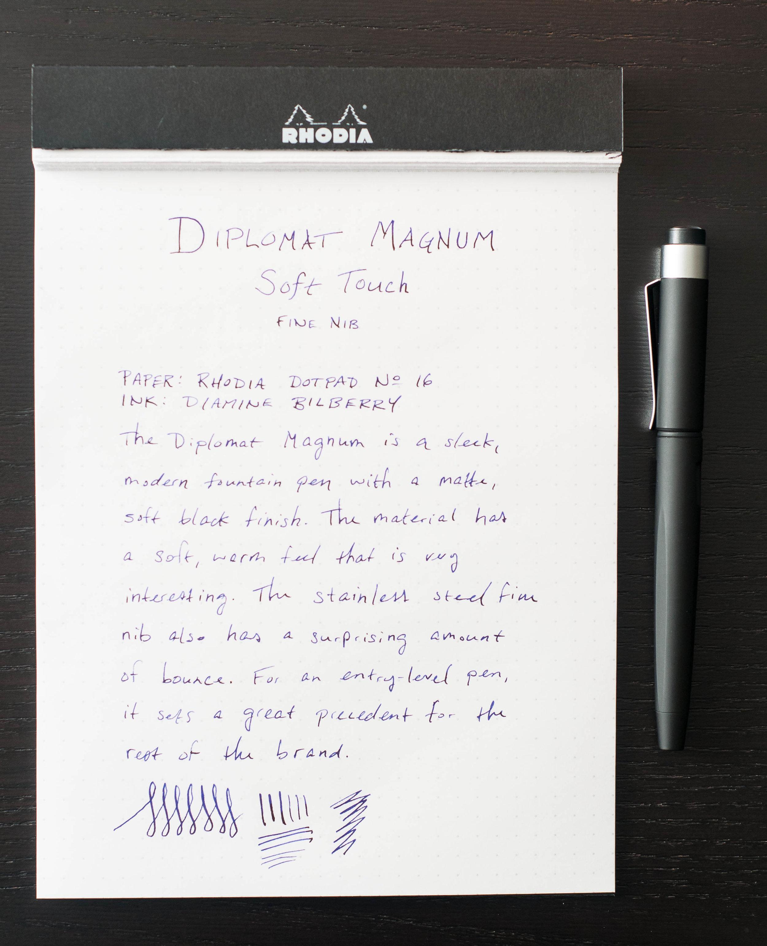 Diplomat Magnum Fountain Pen Review