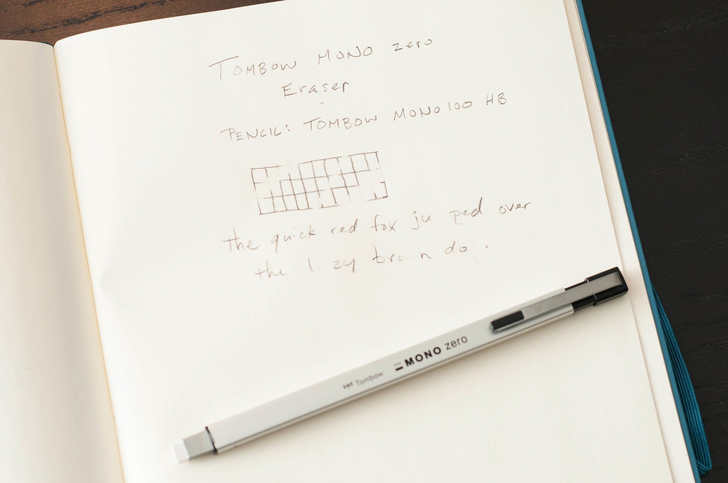 Tombow Mono Zero Eraser Test