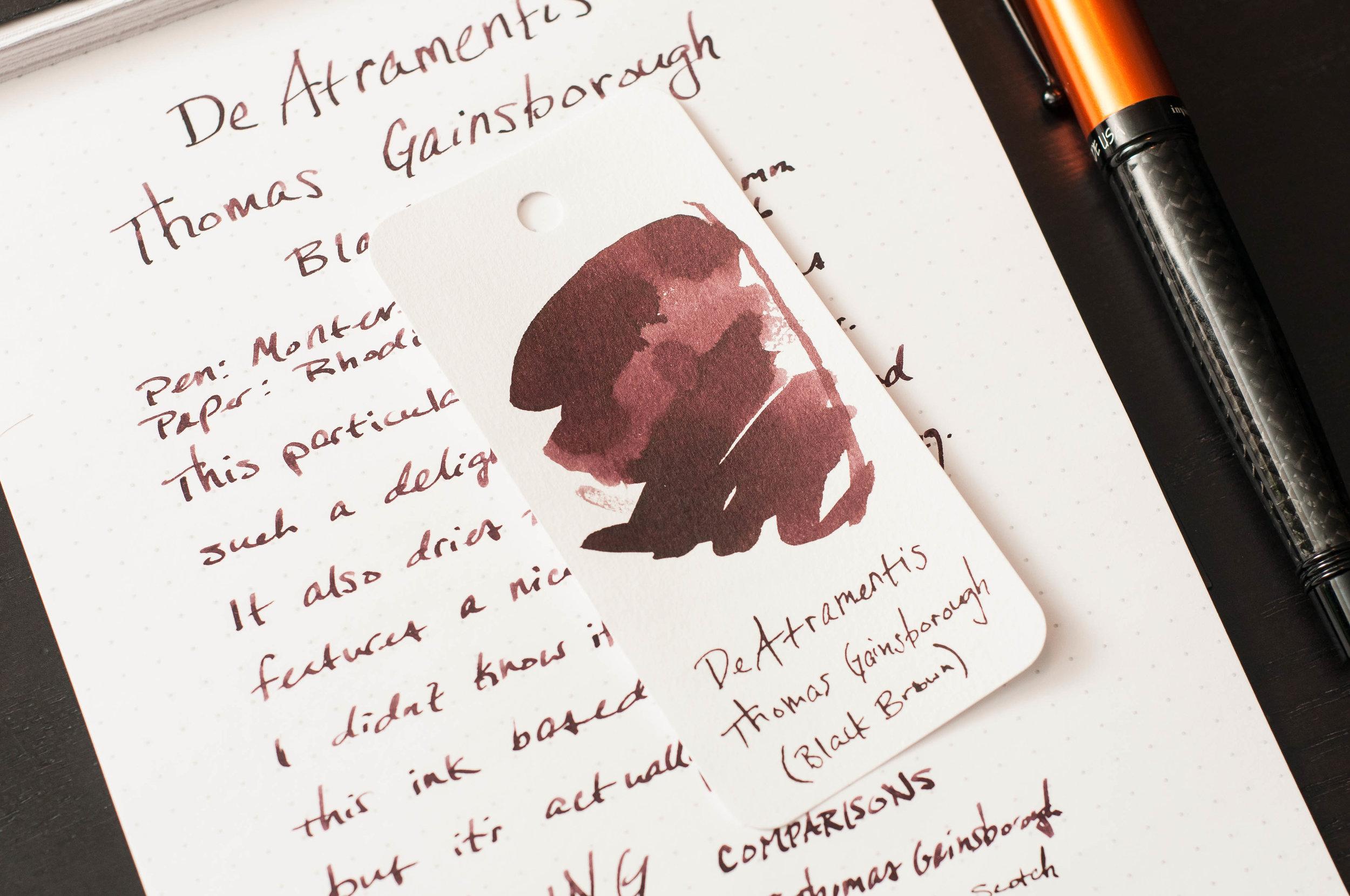 DeAtrementis Gainsborough Ink Sample