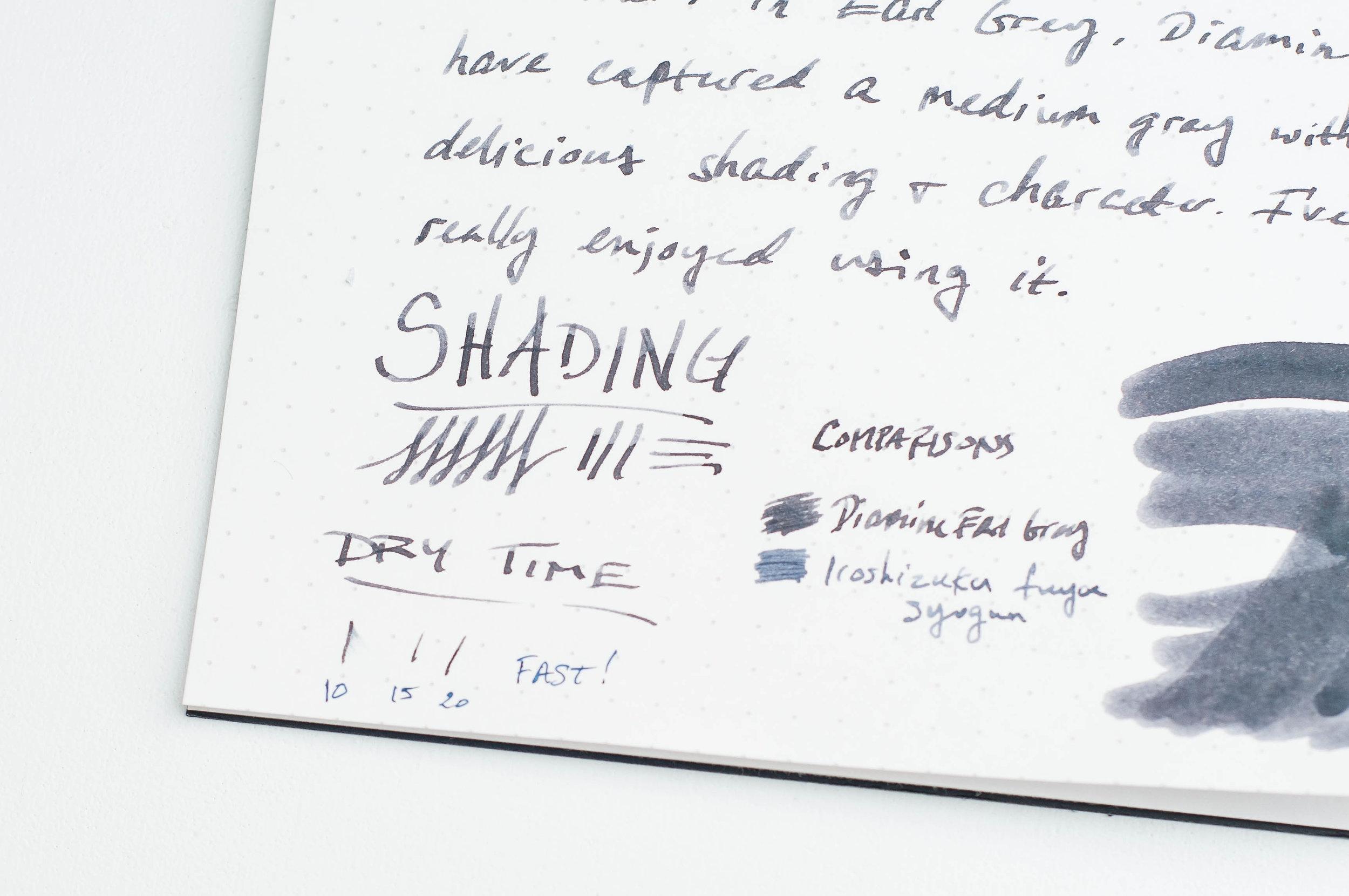 Diamine Earl Grey Ink Shading