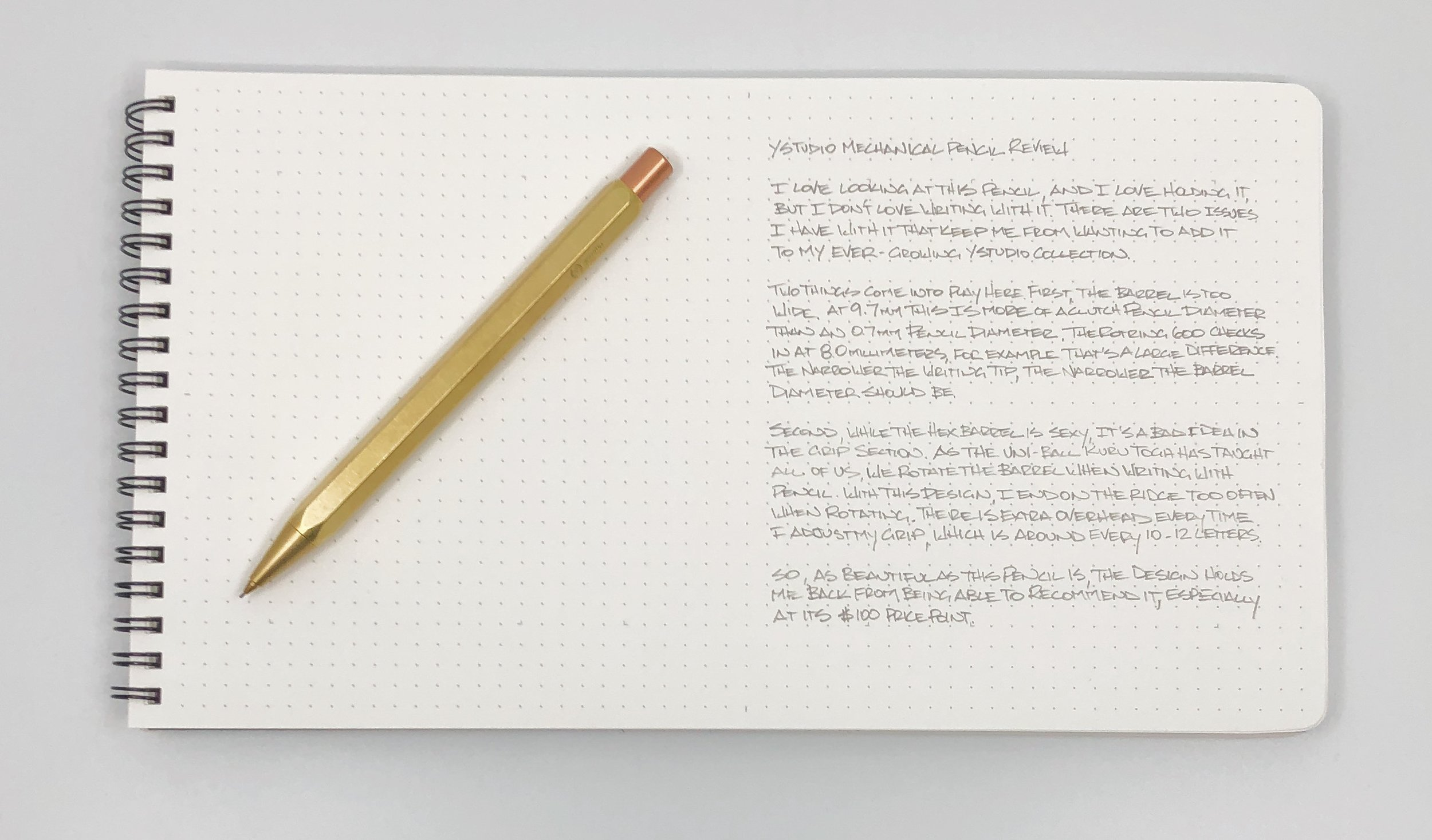 ystudio Mechanical Pencil Writing