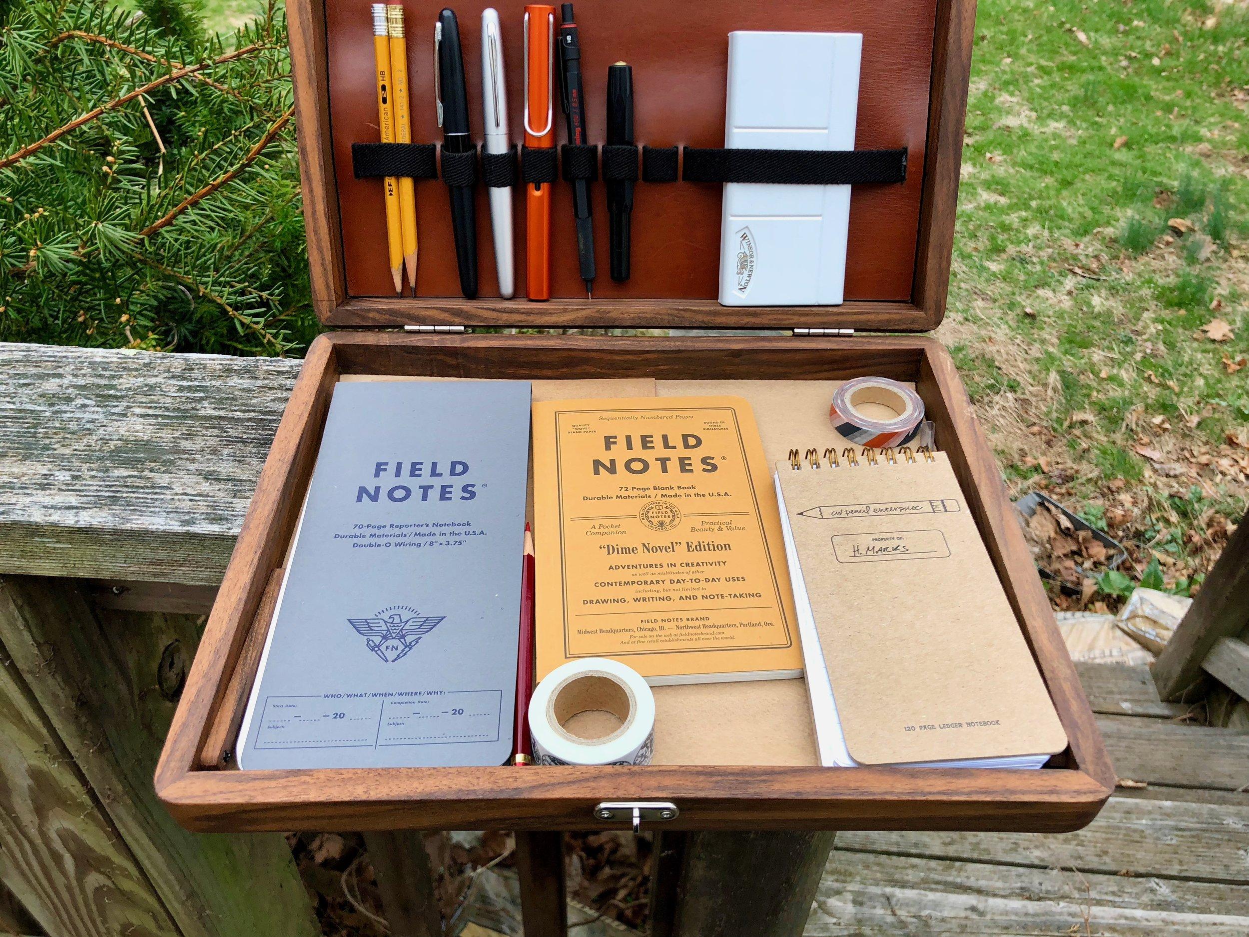 Galen Leather Writing Box